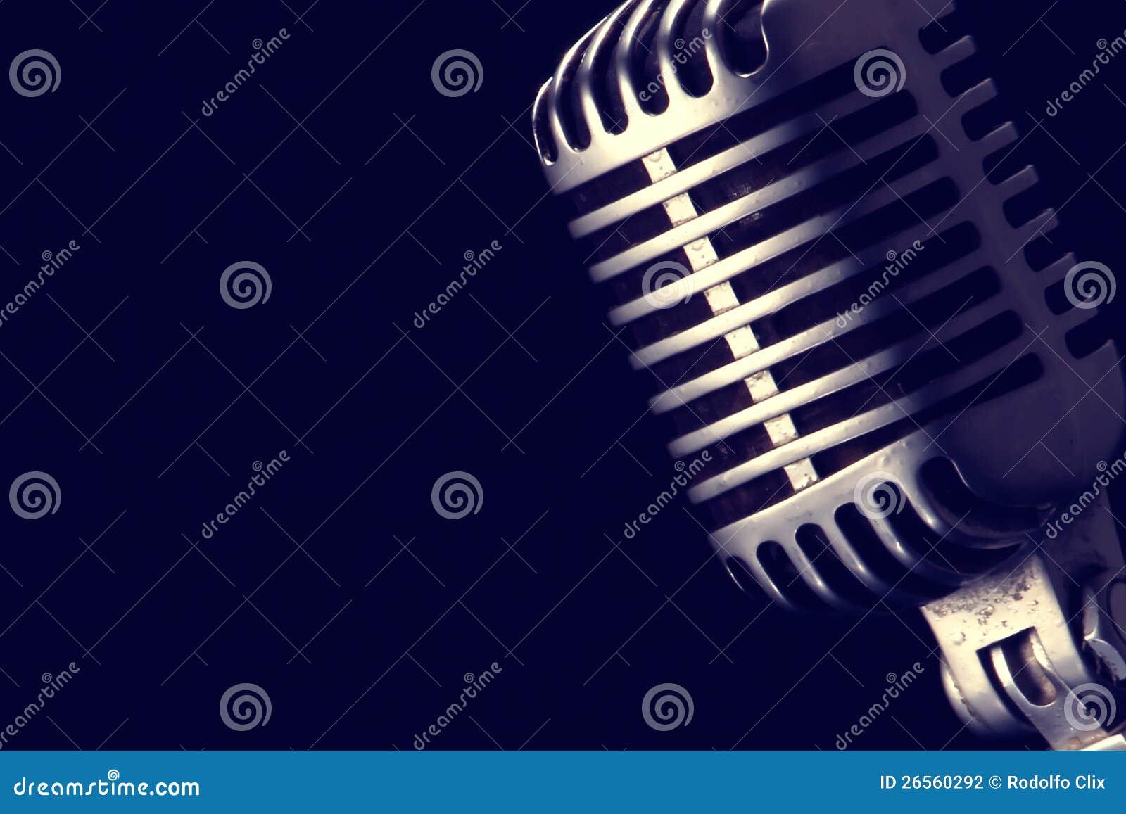 Retro microfoon
