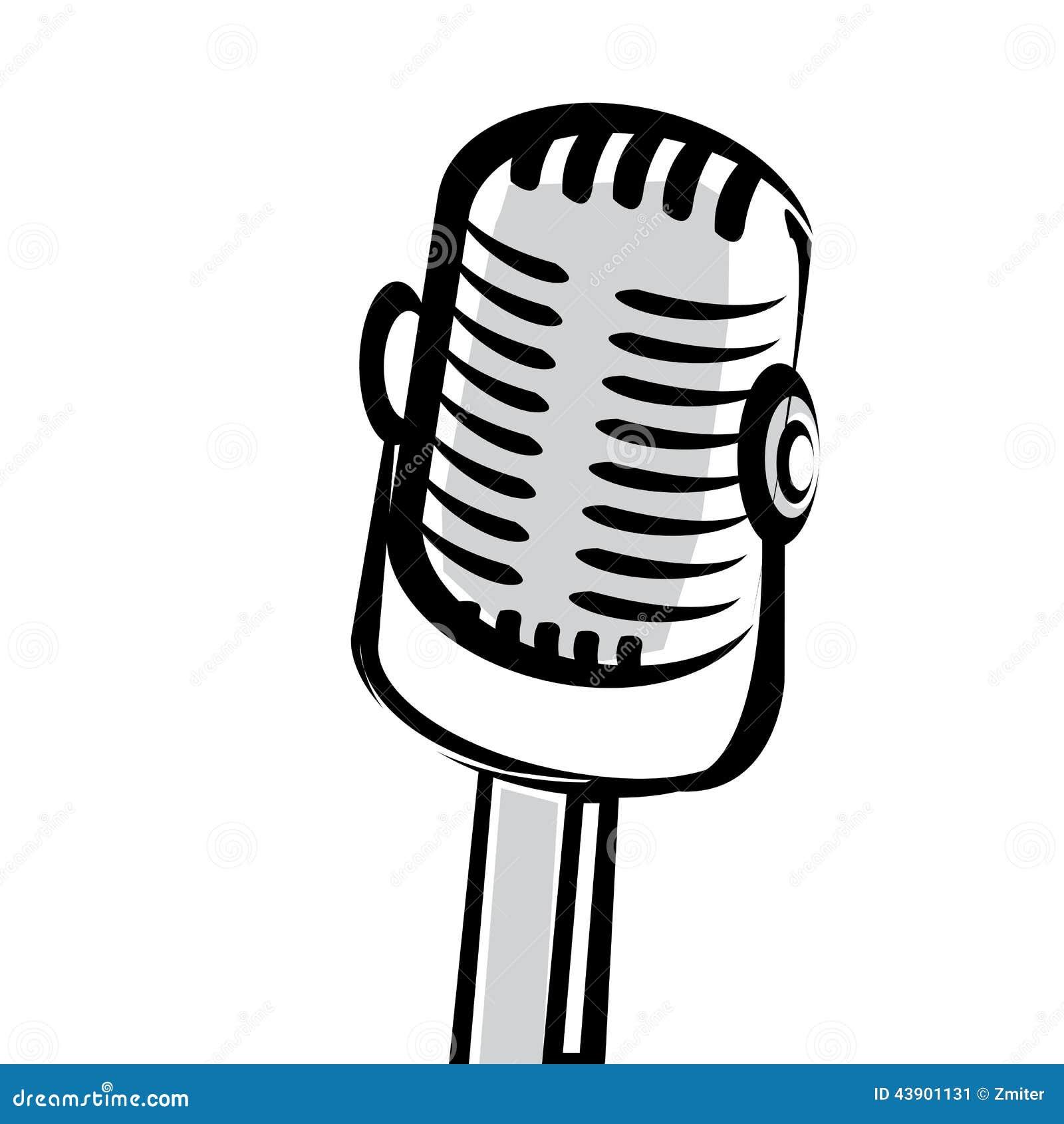 retro microphone vector sign cartoon vector