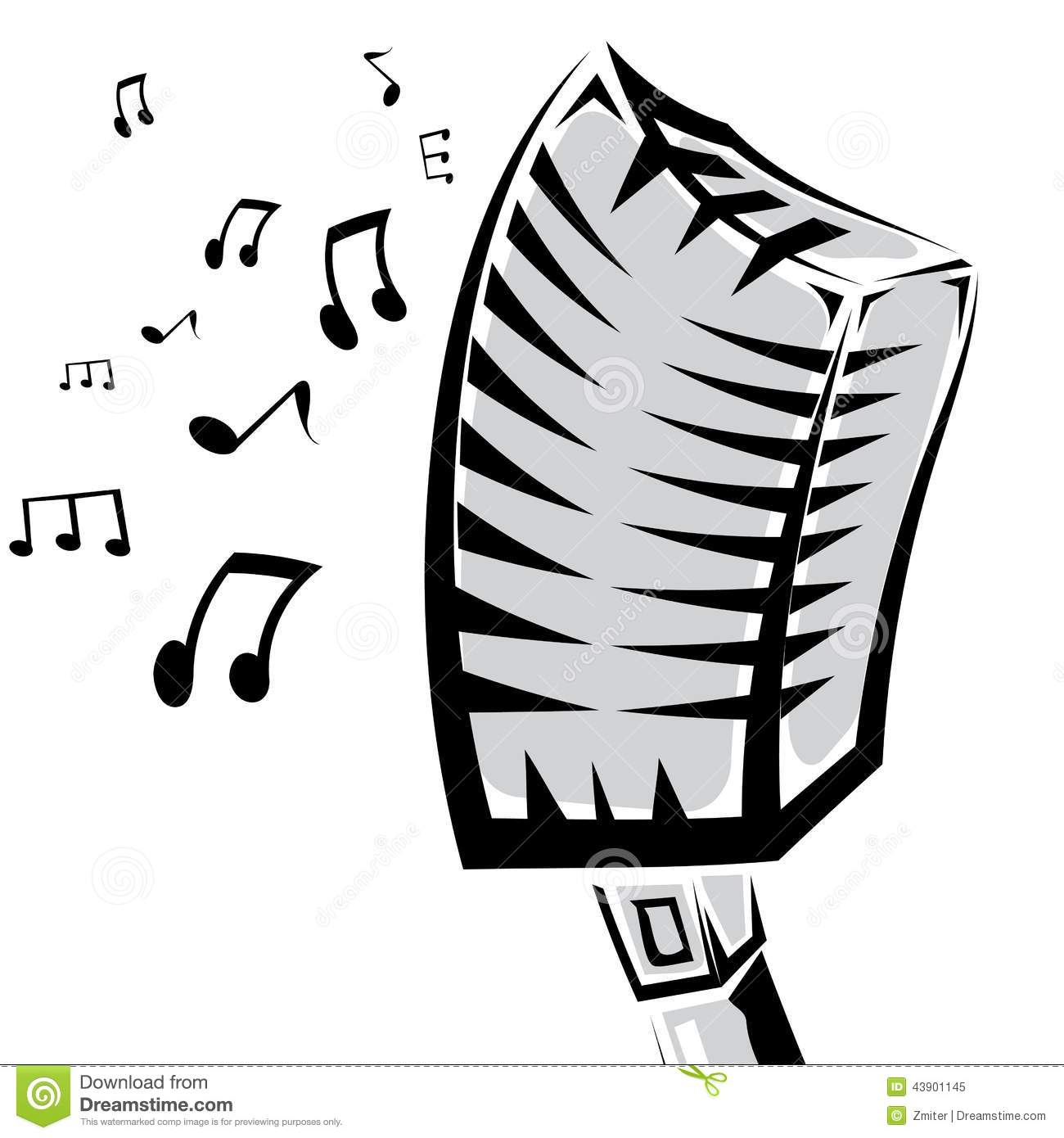 Microphone Silhouette Stock Images, Royalty-Free Images ...