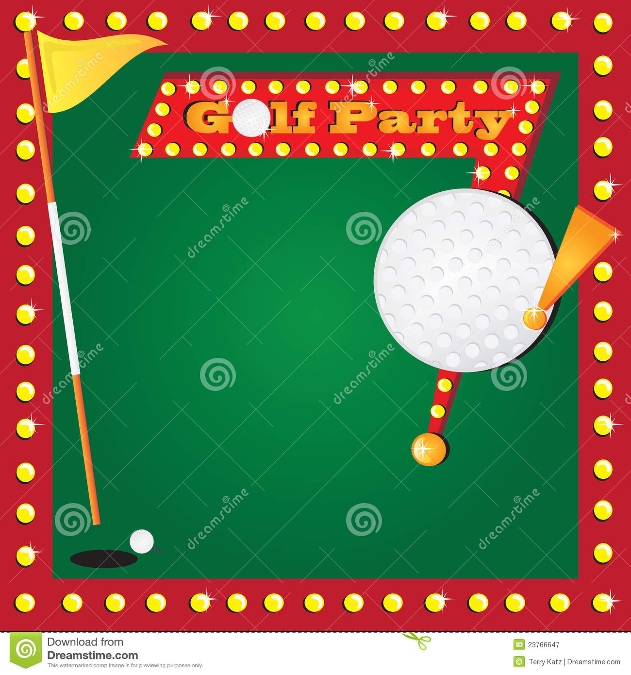 Retro Miniature Golf Party Invitation Vector Image 23766647 – Golf Party Invites