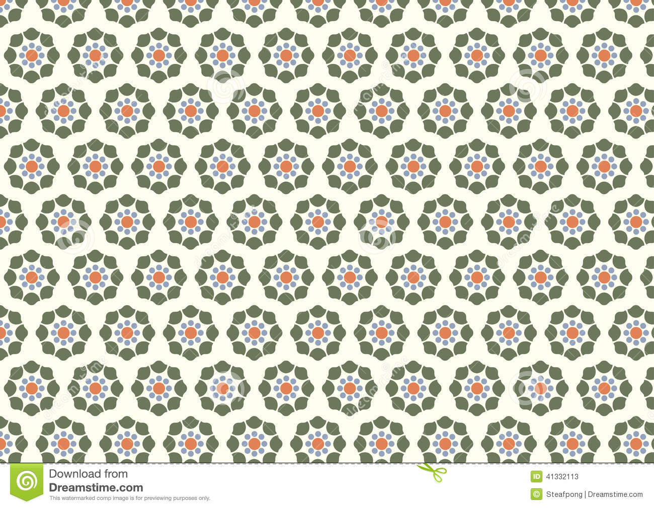 Retro And Modern Flower Pattern On Pastel Background Stock