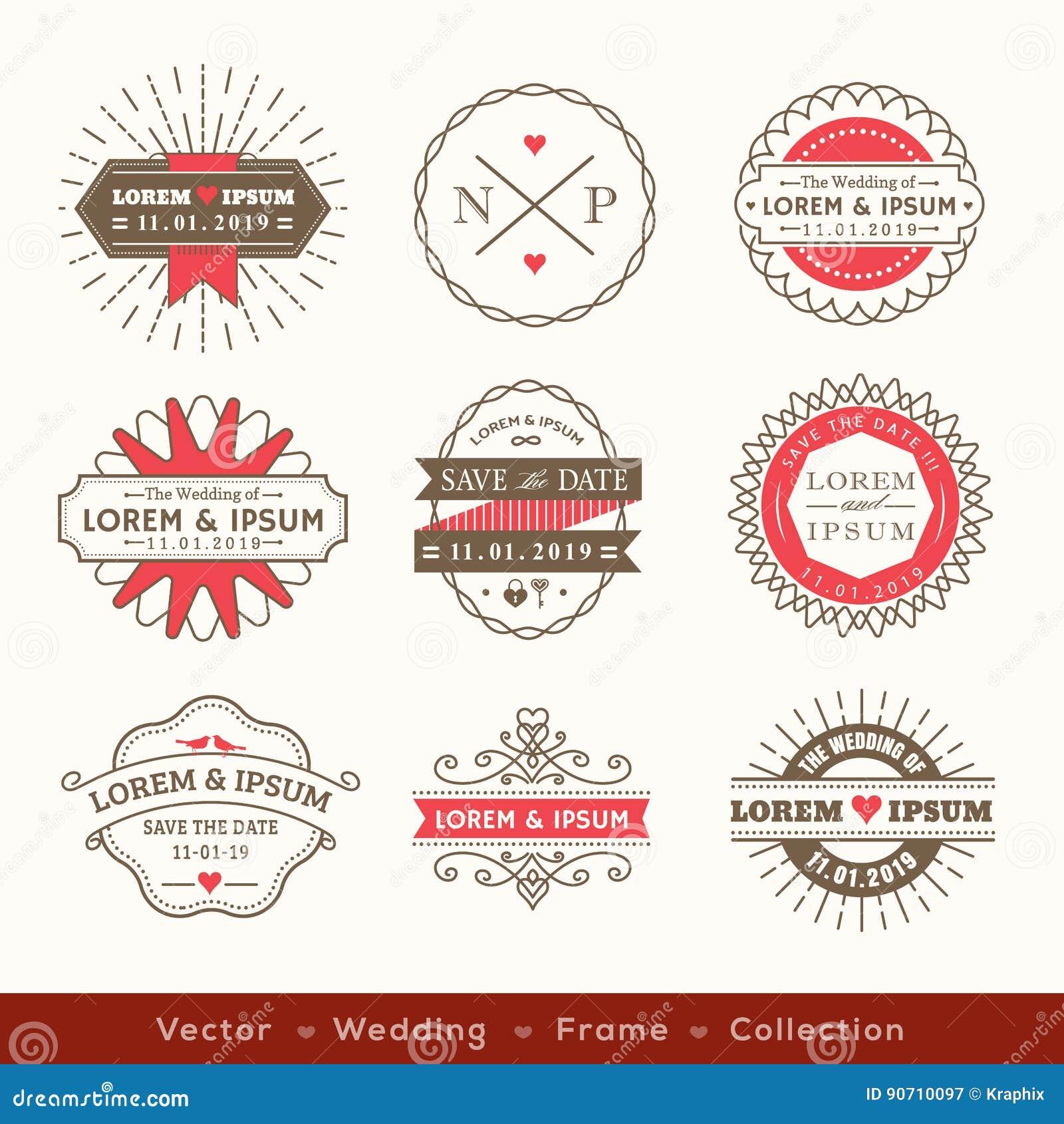 91 wedding logo design free download retro modern hipster wedding