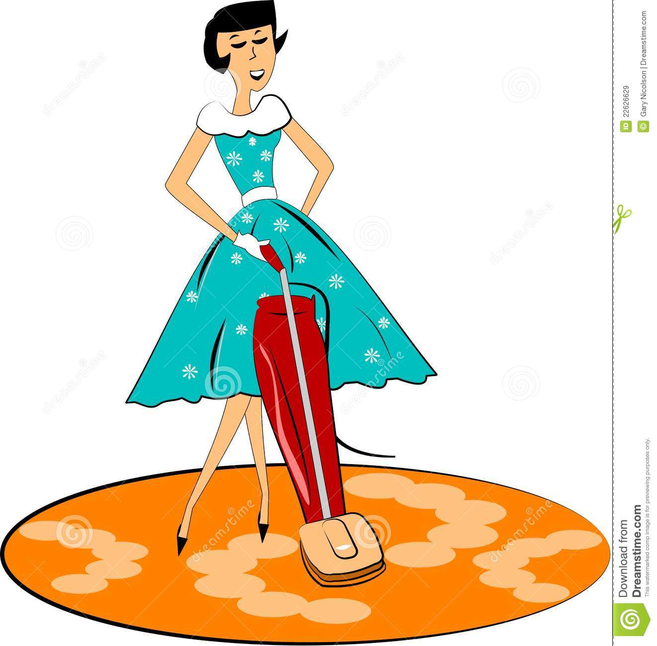 Retro Mom Cleaning Royalty Free Stock Images Image 22626629