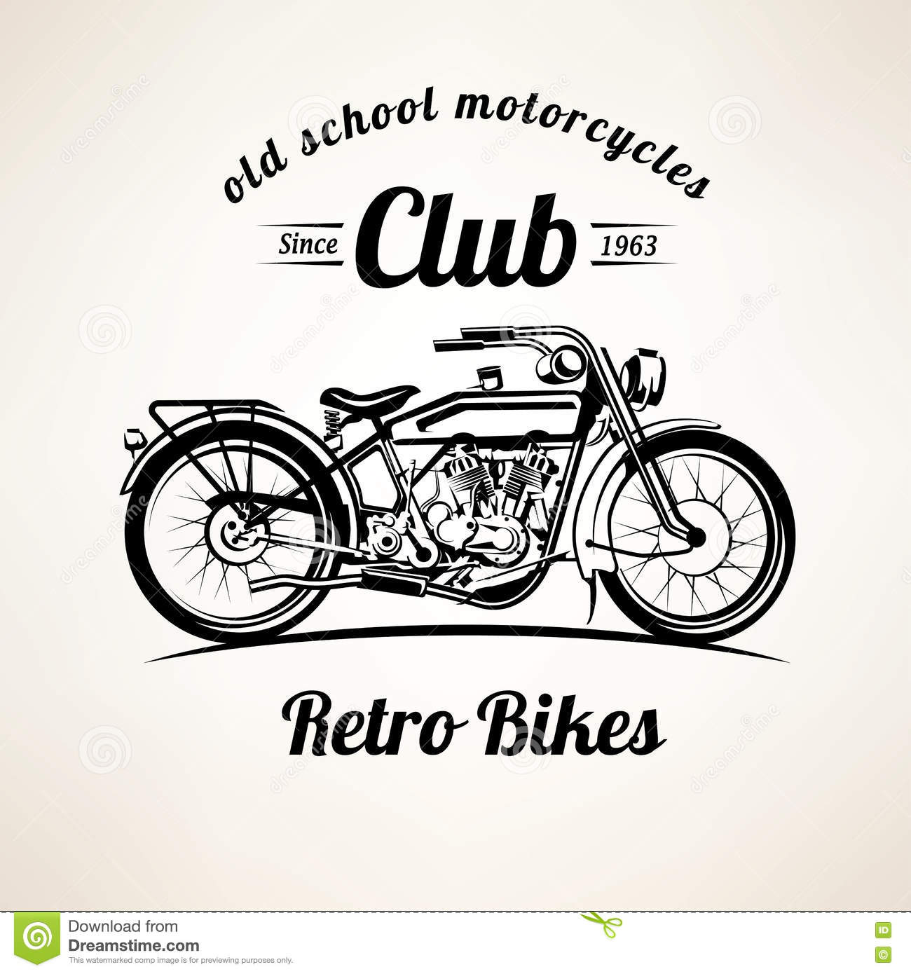 Retro Motorbike Emblems And Labels Template Stock Vector