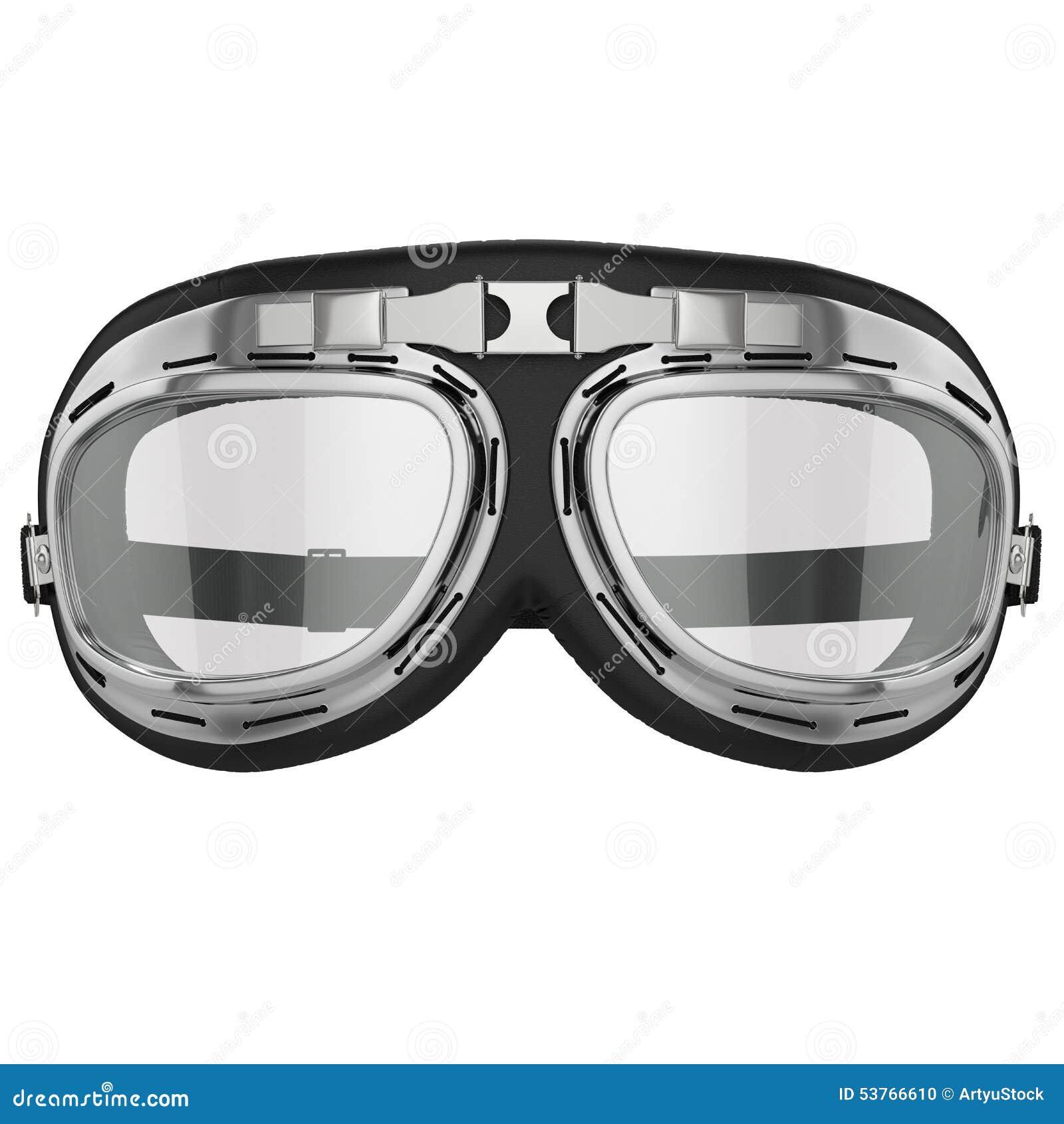 retro motorcycle goggles stock illustration illustration