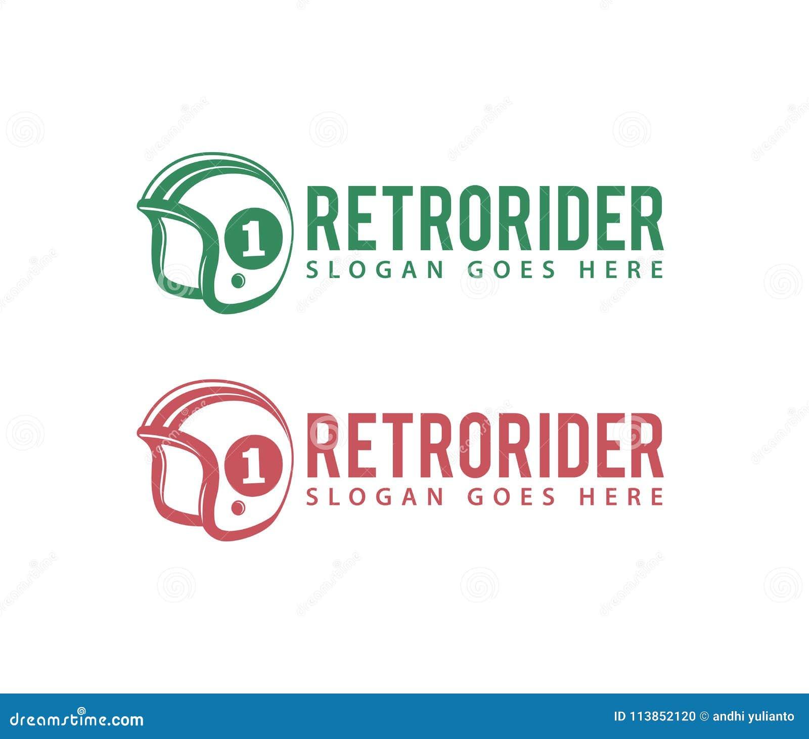 Retro Motorcycle Rider Enthusiast Shop Club Community Vector Logo
