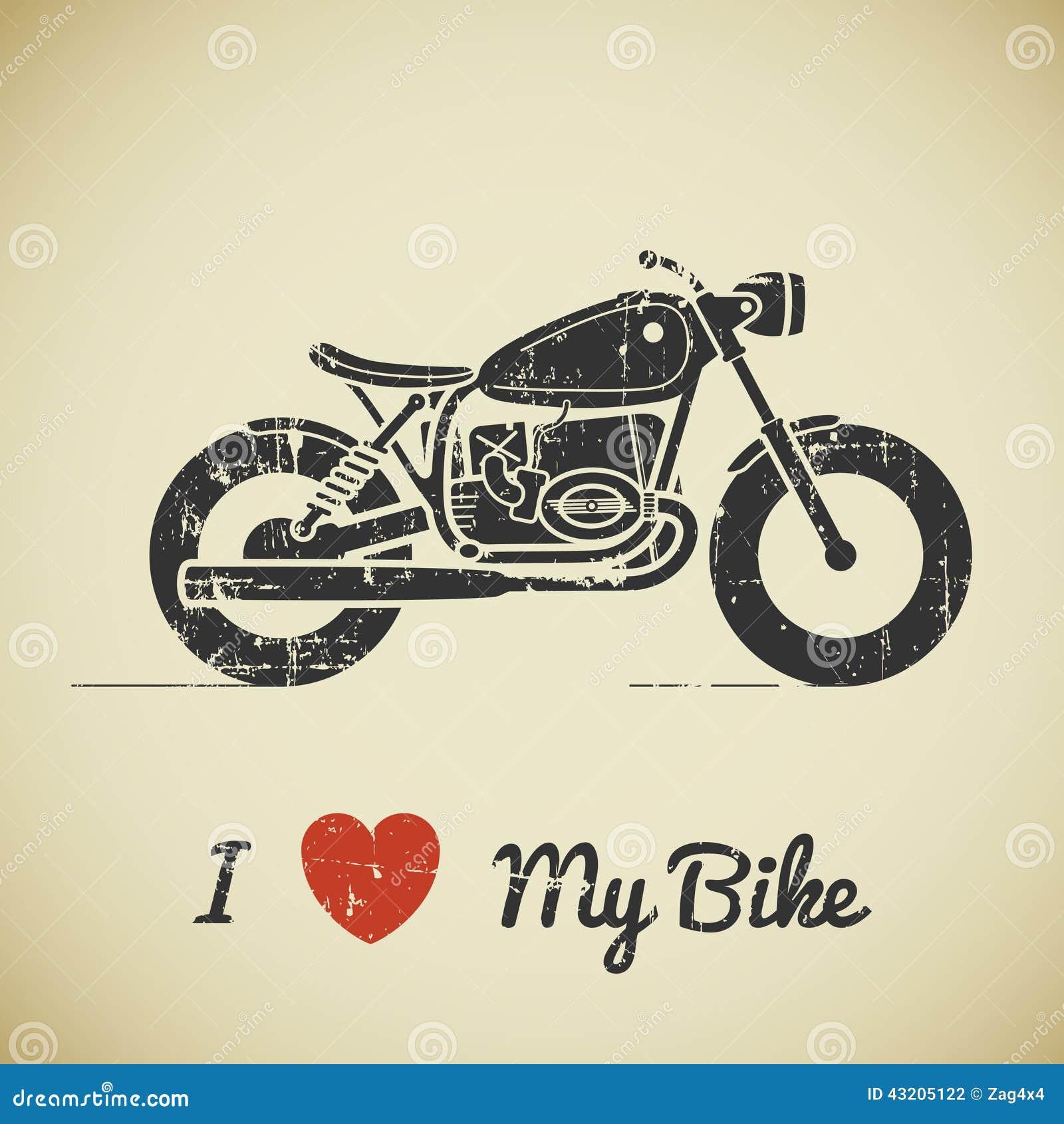 Download Retro motorcykel stock illustrationer. Illustration av snabbt - 43205122