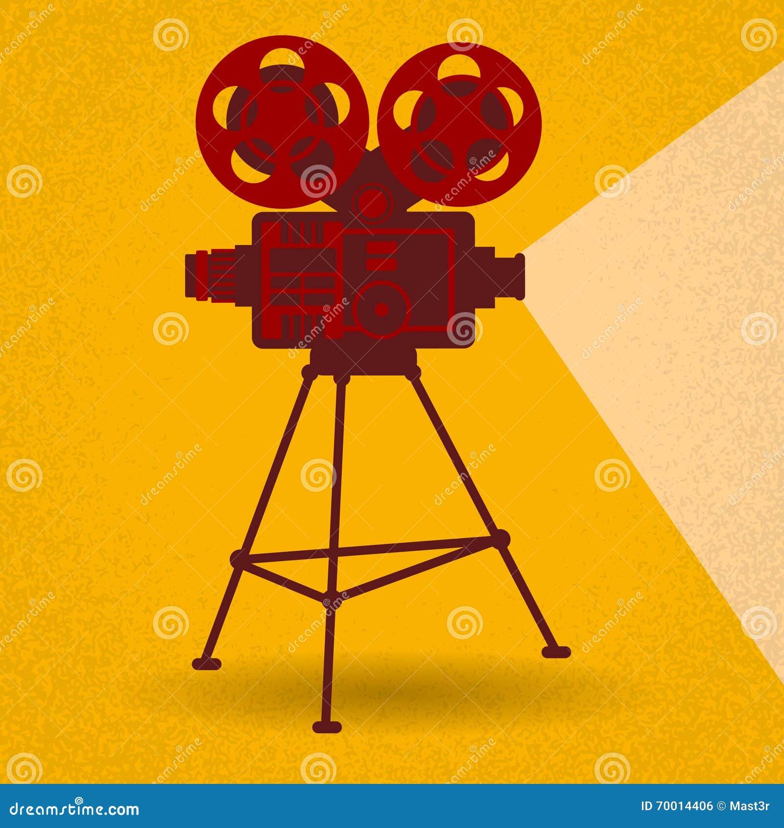 Creative Concept Retro Movie Film Vintage Film Reel Stock ...