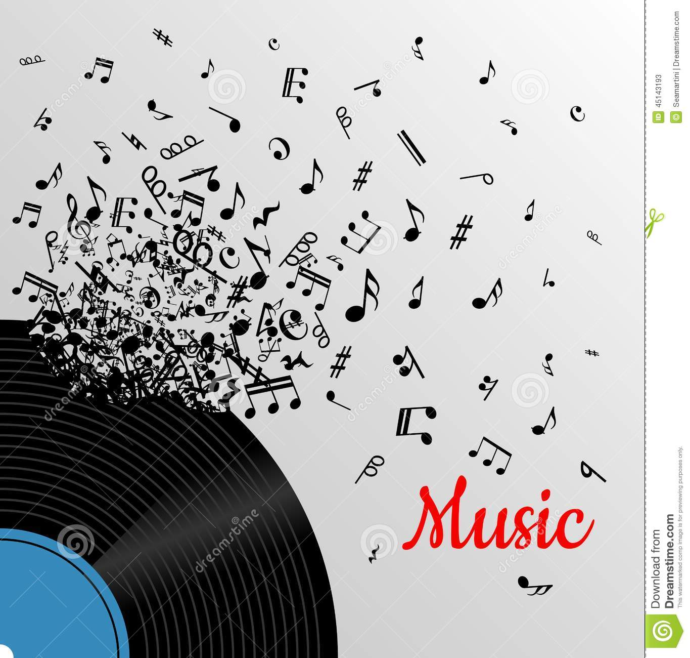 Retro Music Vintage Poster Stock Vector Image 45143193