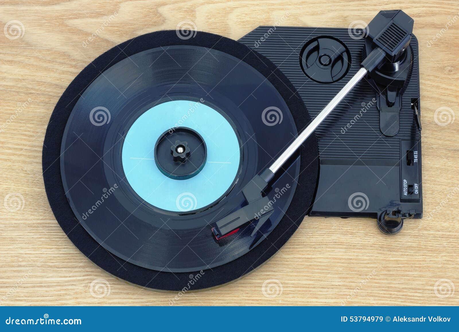 Retro musik från gammal vinyl