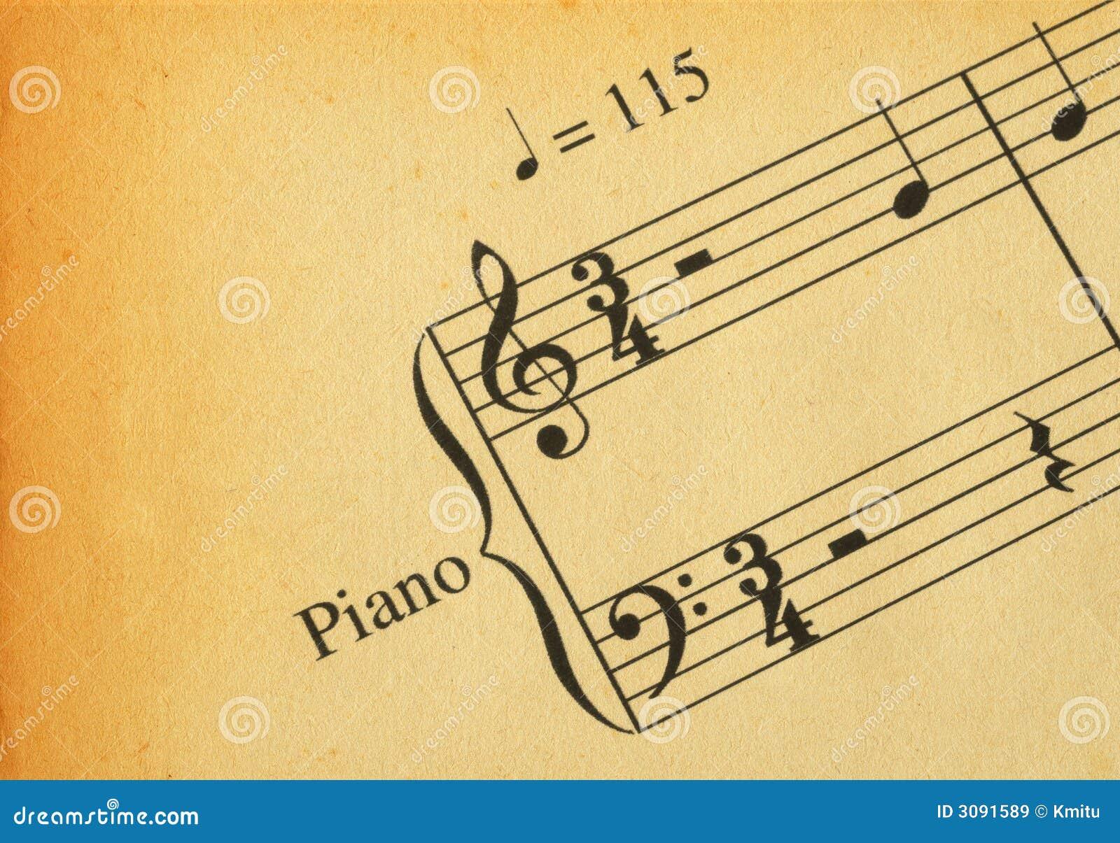 Retro musikanmärkning