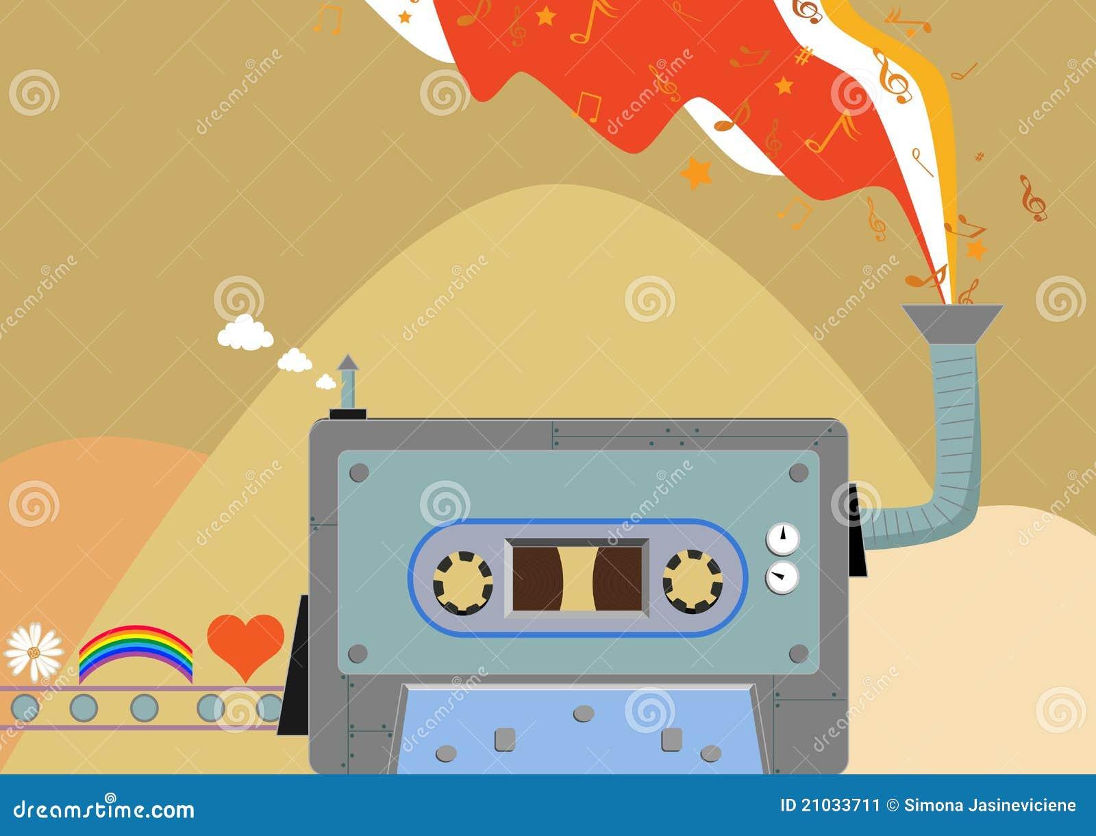 Retro muziekfabriek. Cassette