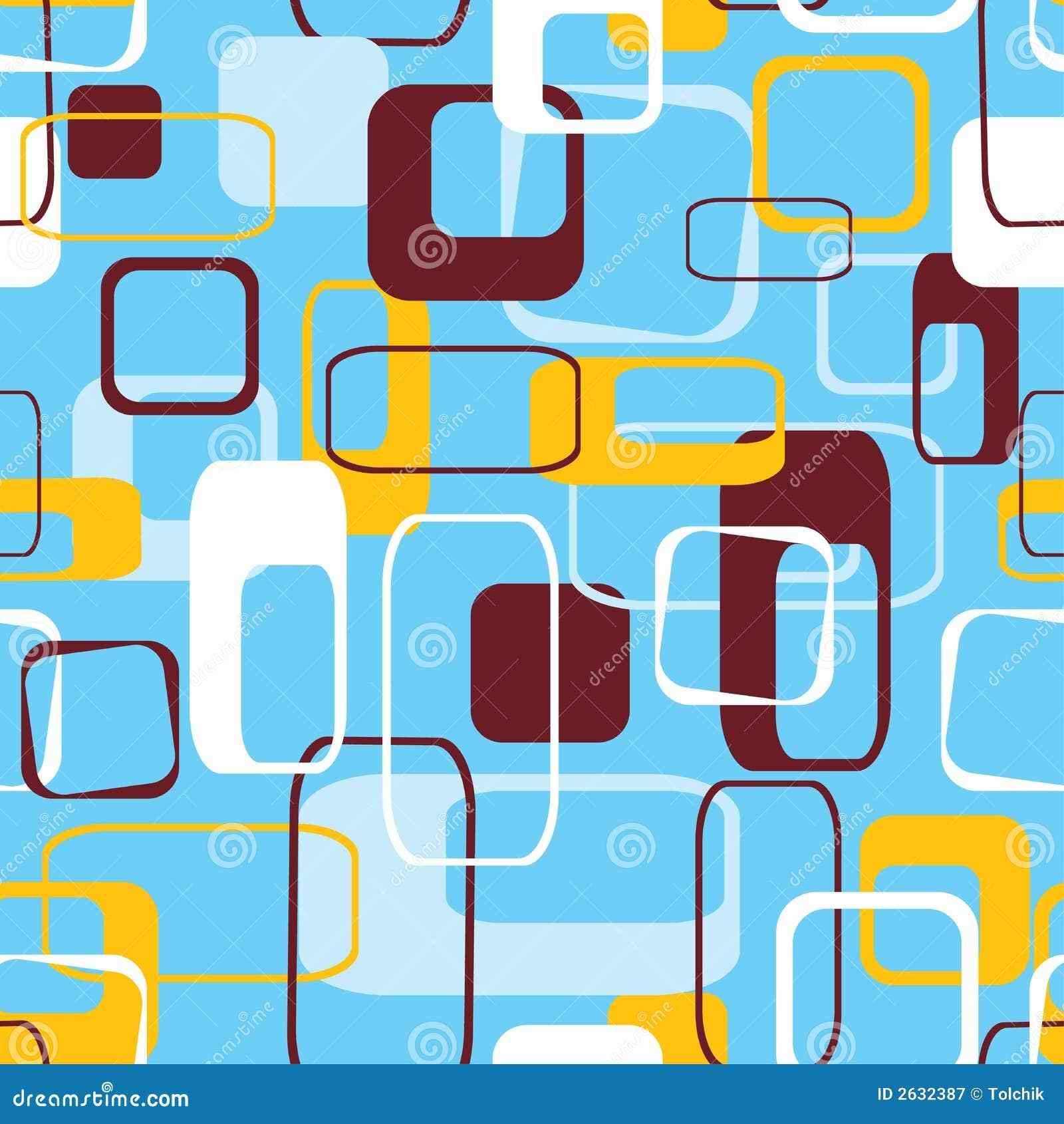 Retro naadloos patroon, vector