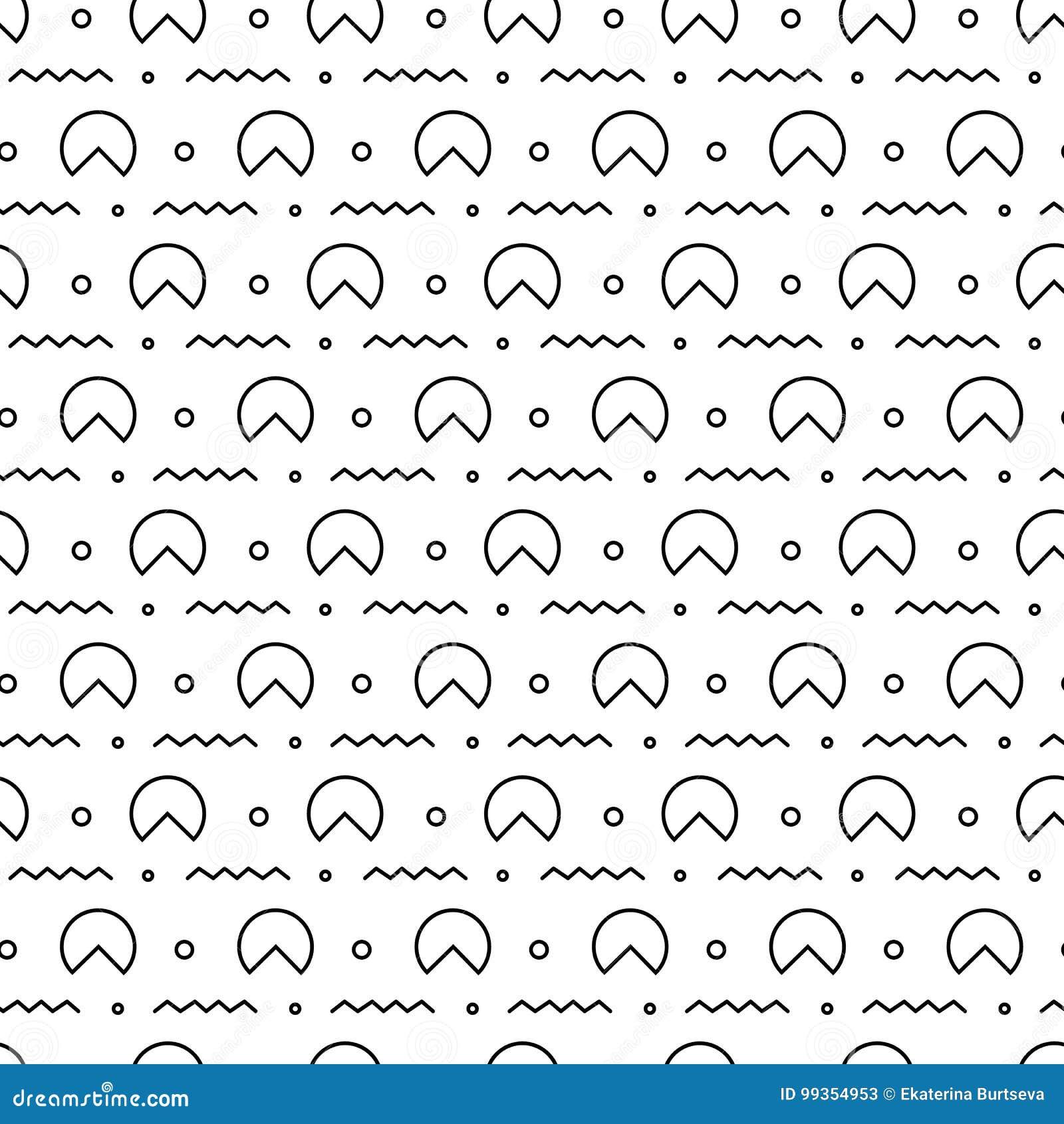 Retro Nahtloses Muster Memphis Der Art Zusammenfassung Der Mode 80