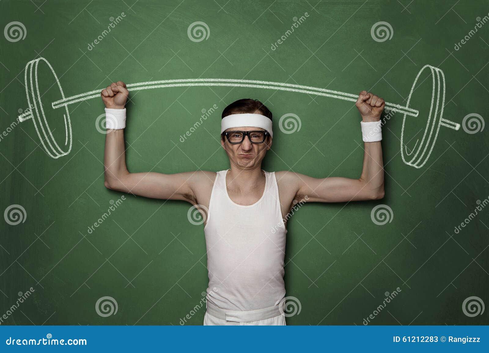 Retro nerd divertente di sport