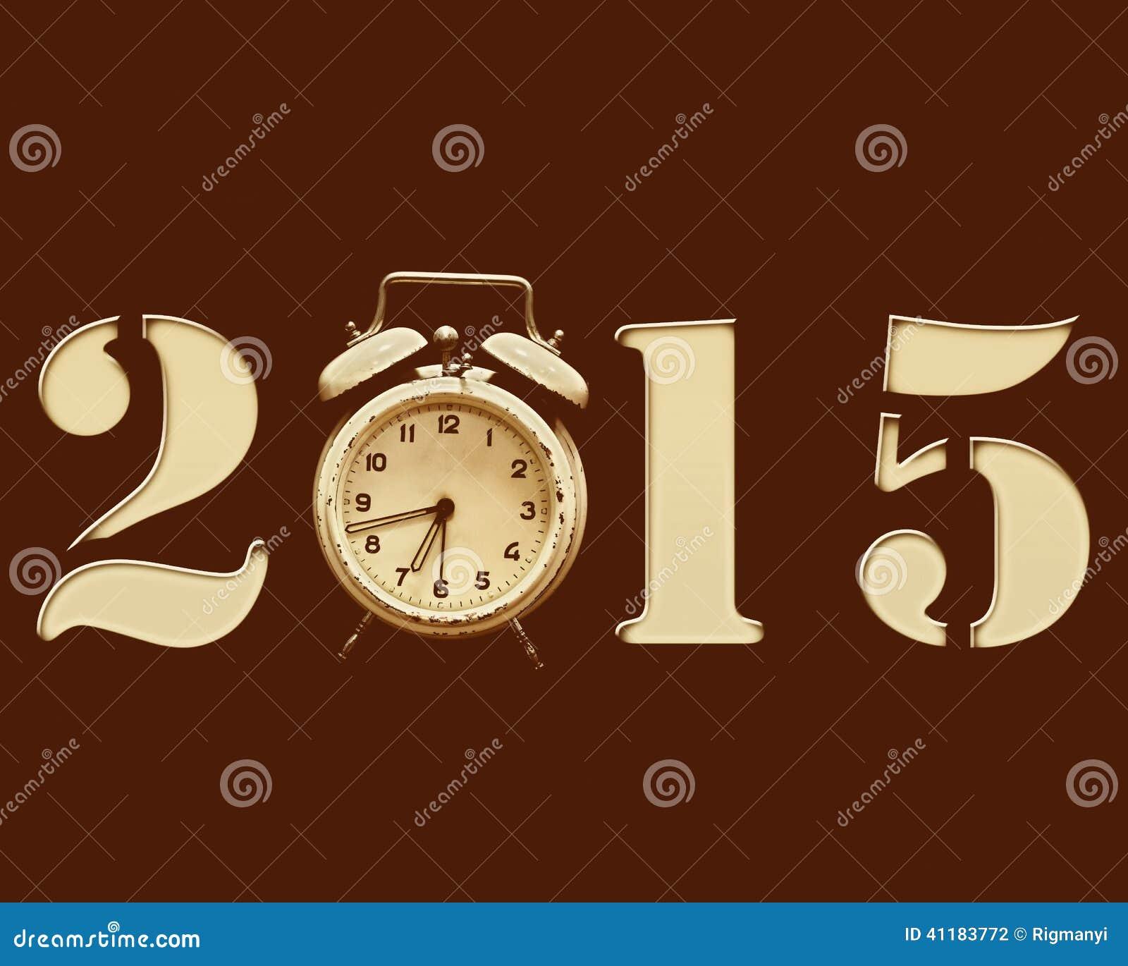 Retro nowy rok 2015