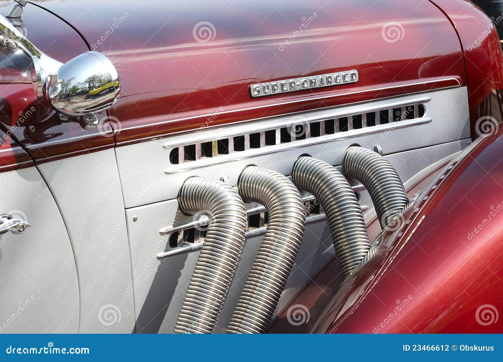 Retro o super do carro cobrado
