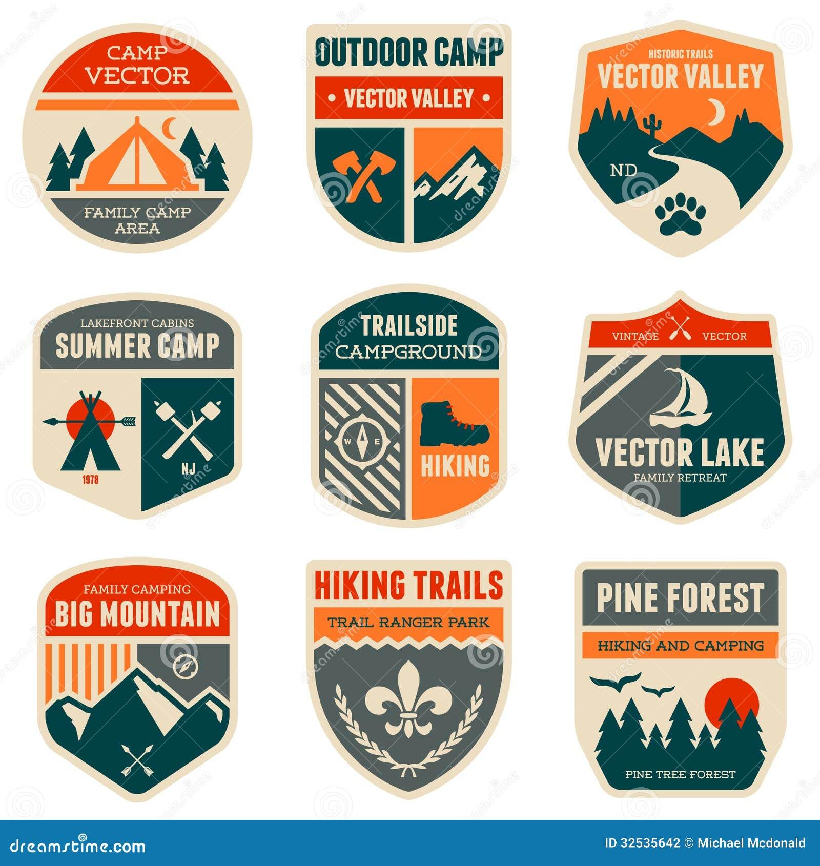 Retro obozowe odznaki