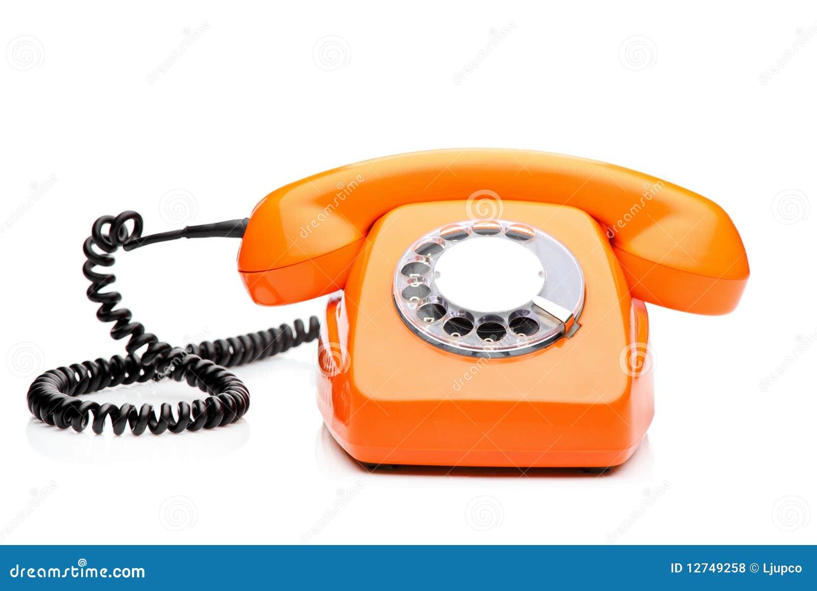 A Retro Orange Phone Royalty Free Stock Photos Image 12749258