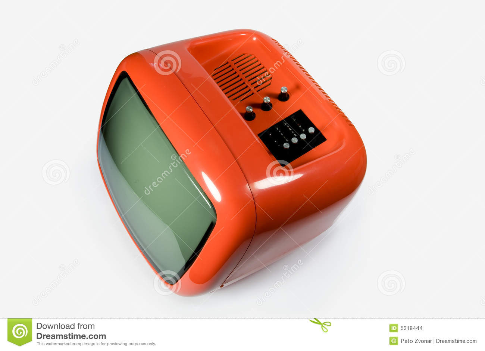 retro orange tv stock photo image of black electrical 5318444. Black Bedroom Furniture Sets. Home Design Ideas