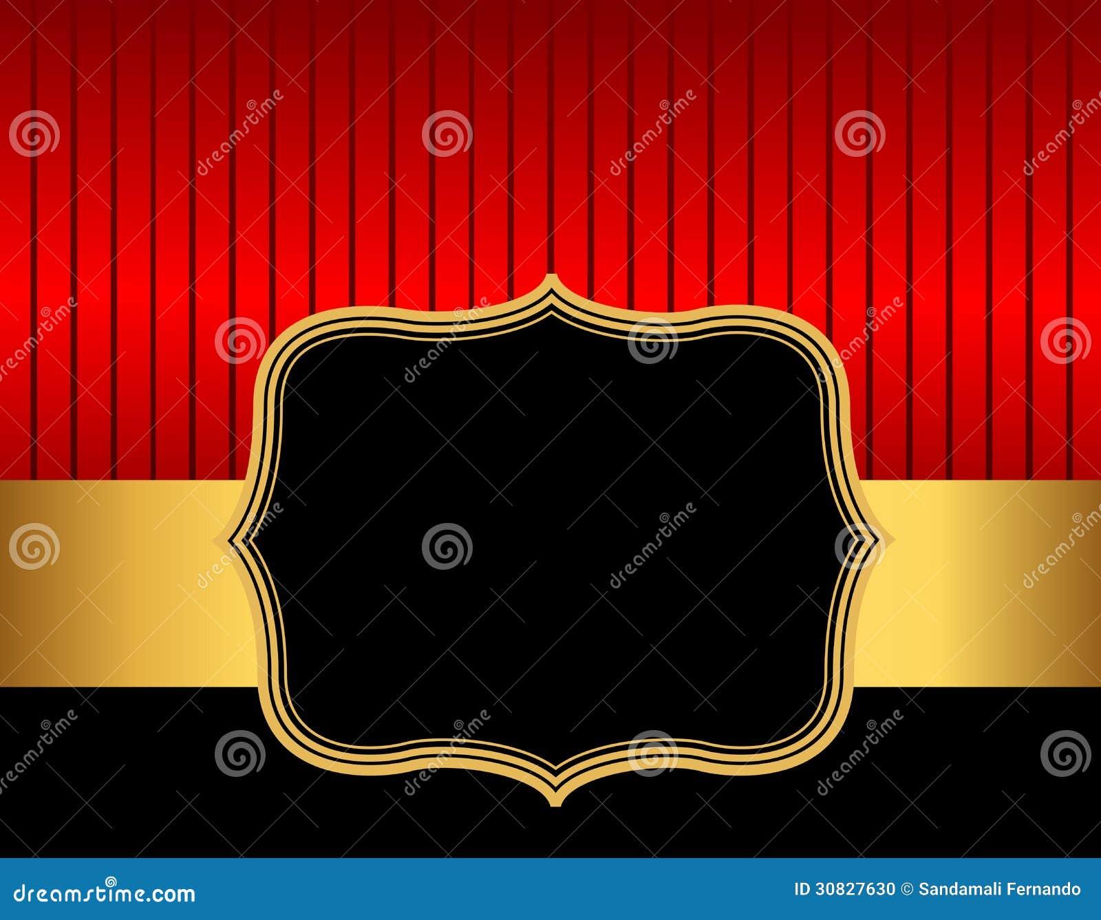 Retro oro rosso del amd confine/della struttura