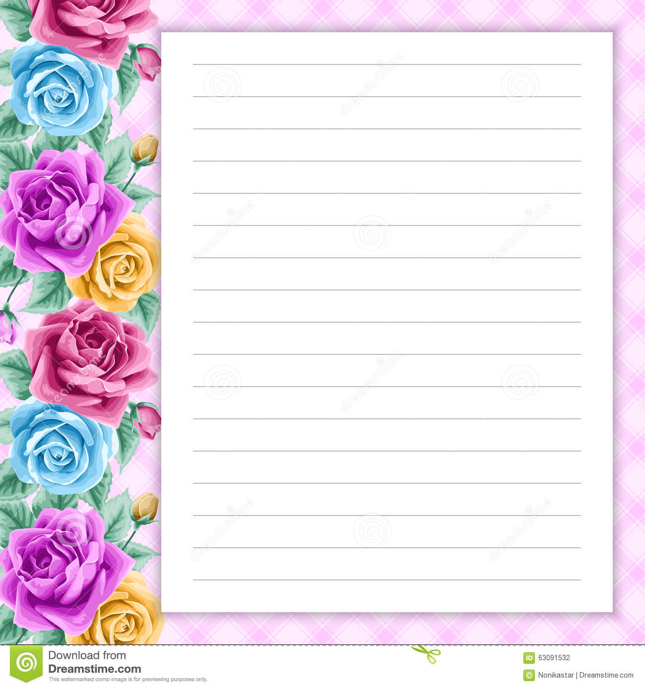 notes pages template