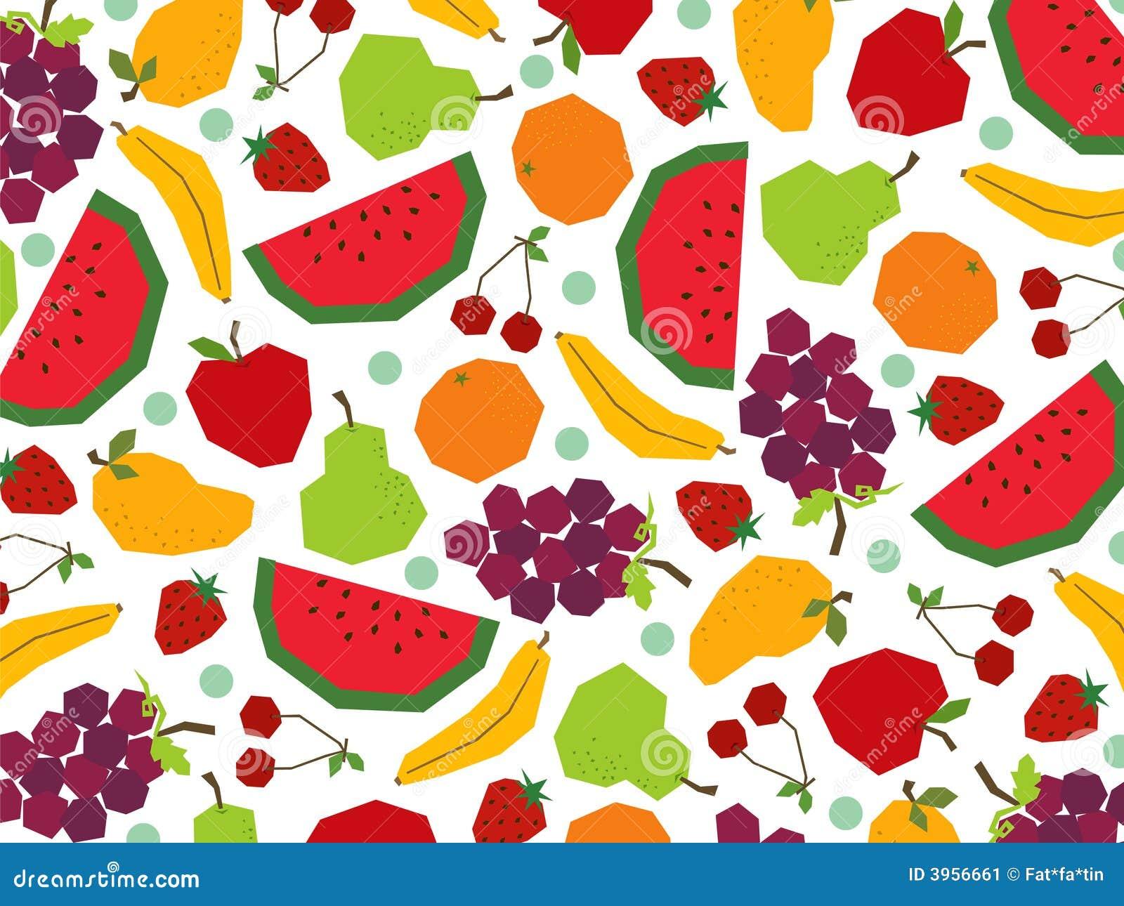 Retro Papercut Fruits Natural Fresh Fruit Juice