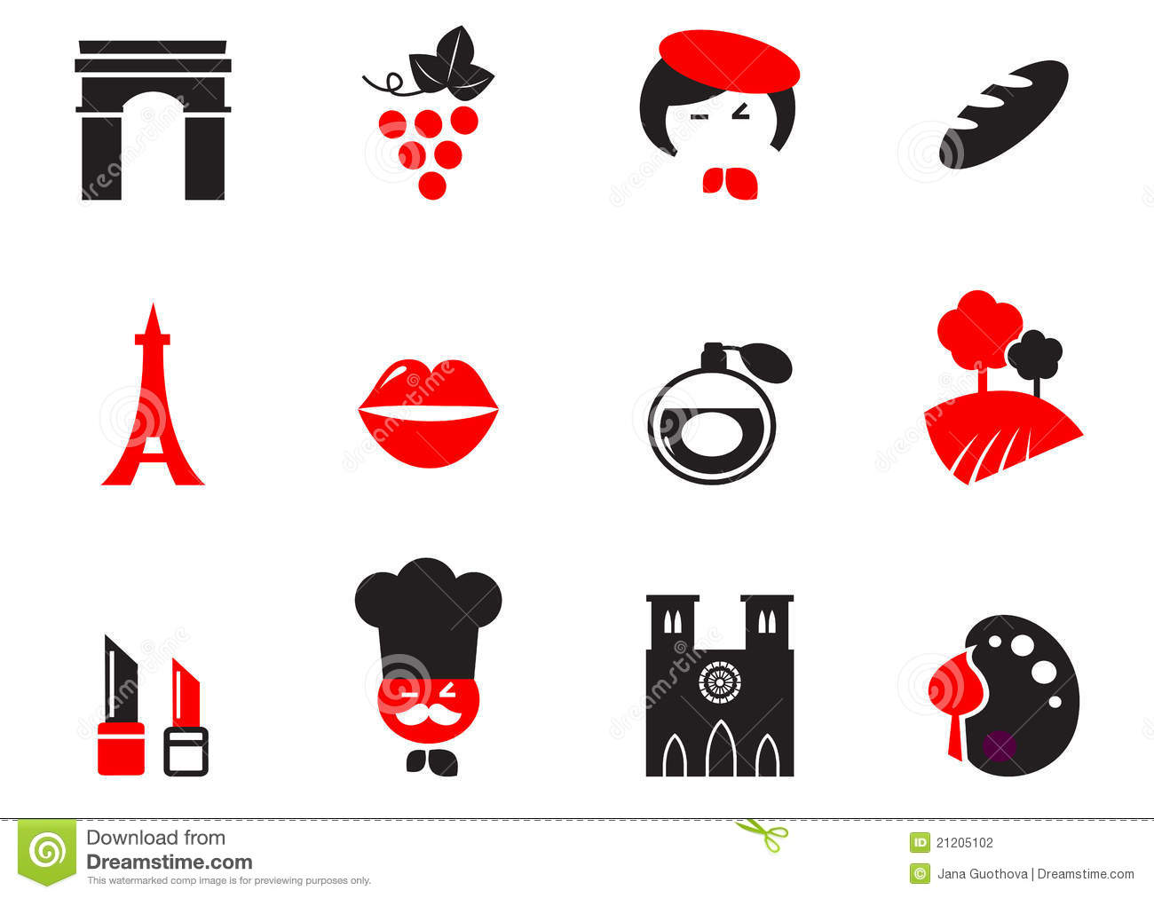 Retro Paris Culture, French Culture & Cuisine. Stock Photography ...