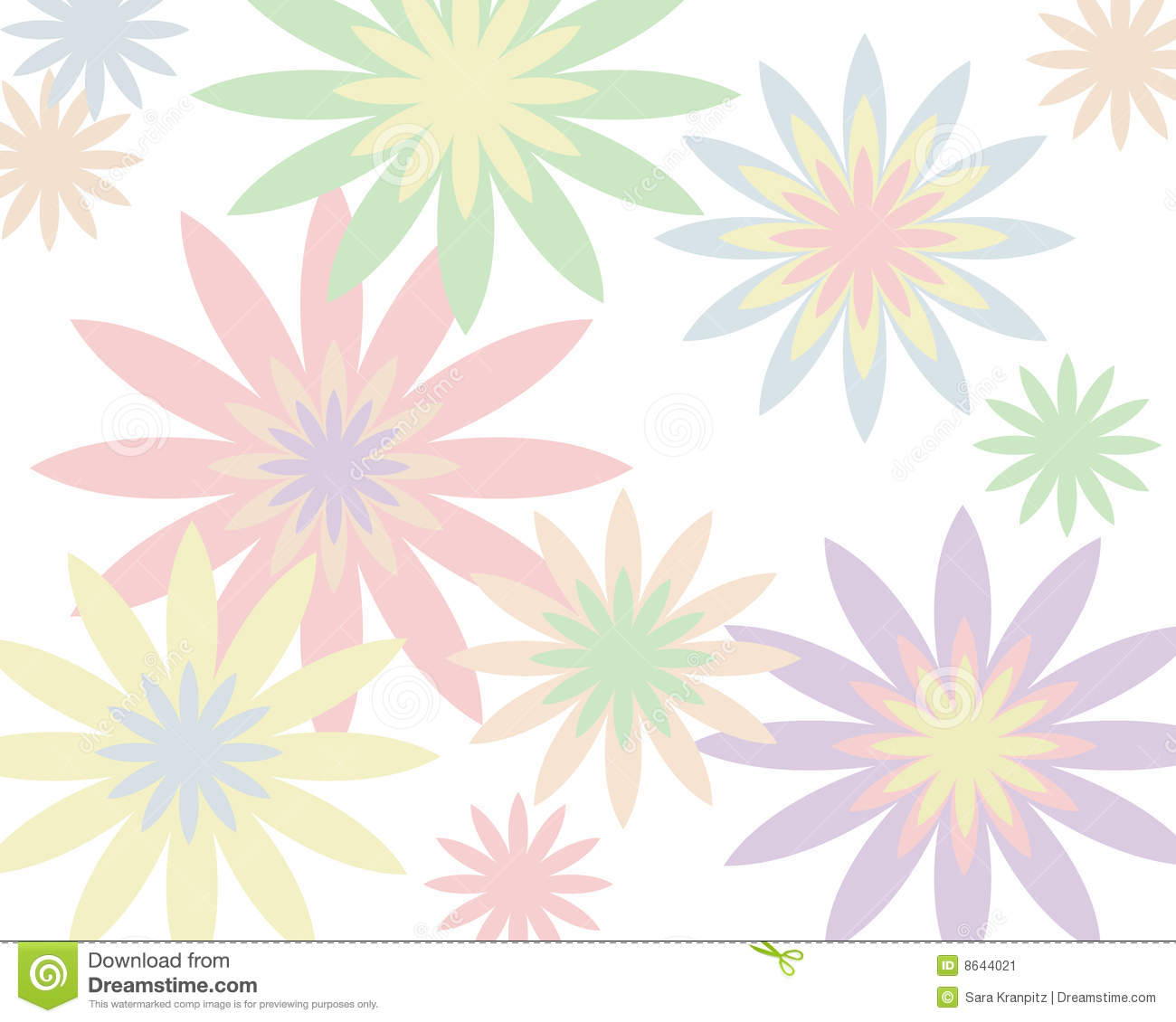 Retro Pastel Floral Background Stock Image Image 8644021