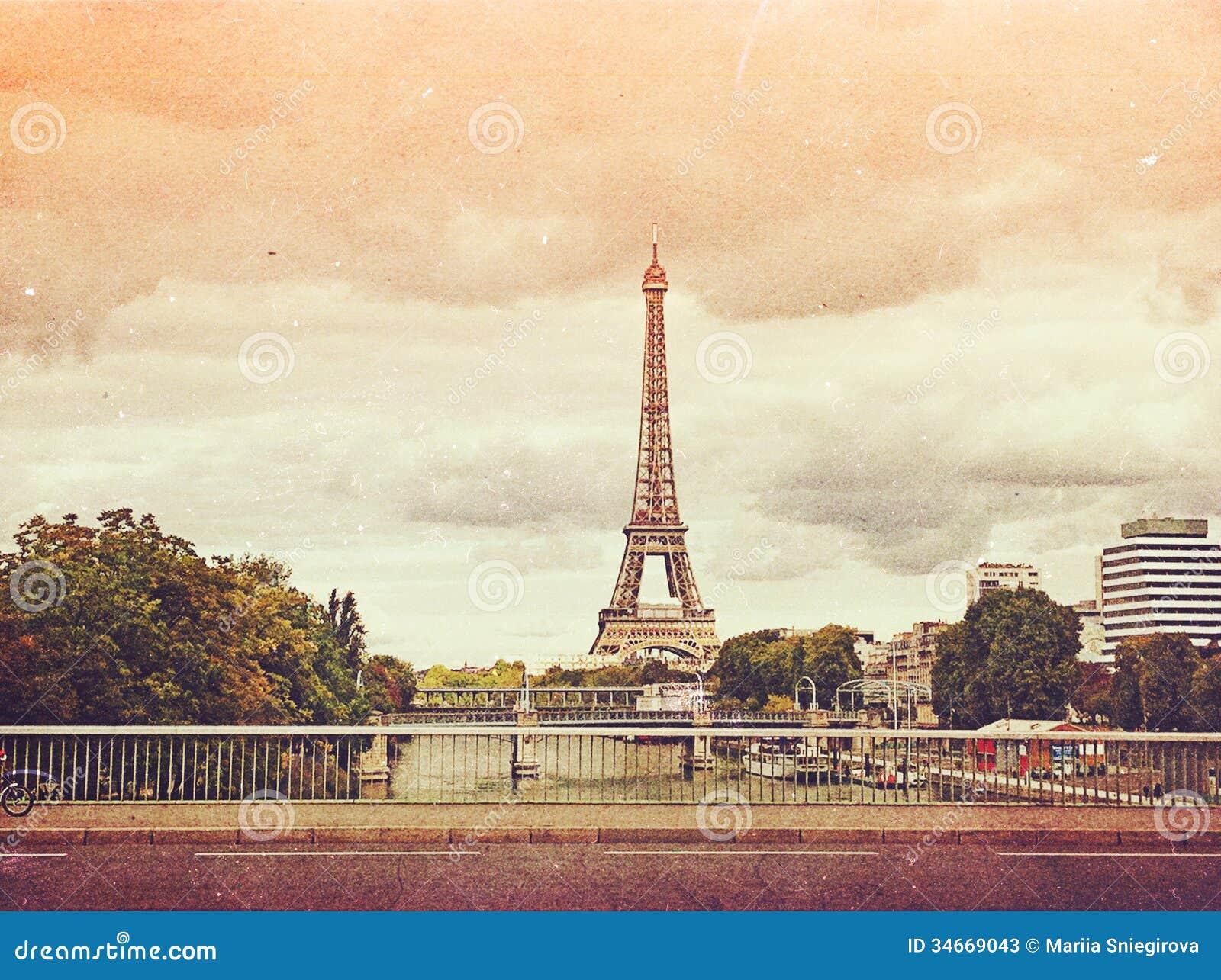 retro photo with paris france vintage stock photos