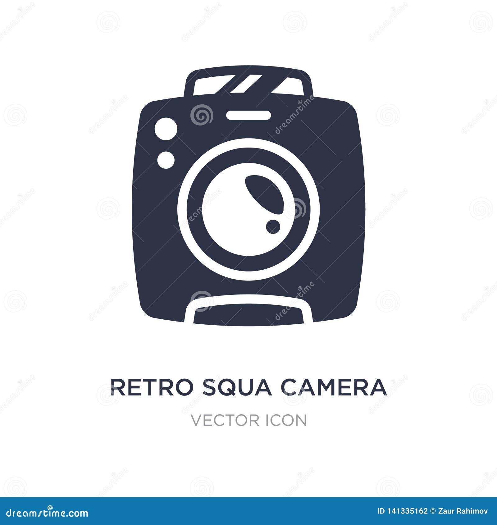Retro pictogram van de squacamera op witte achtergrond Eenvoudige elementenillustratie van Technologieconcept