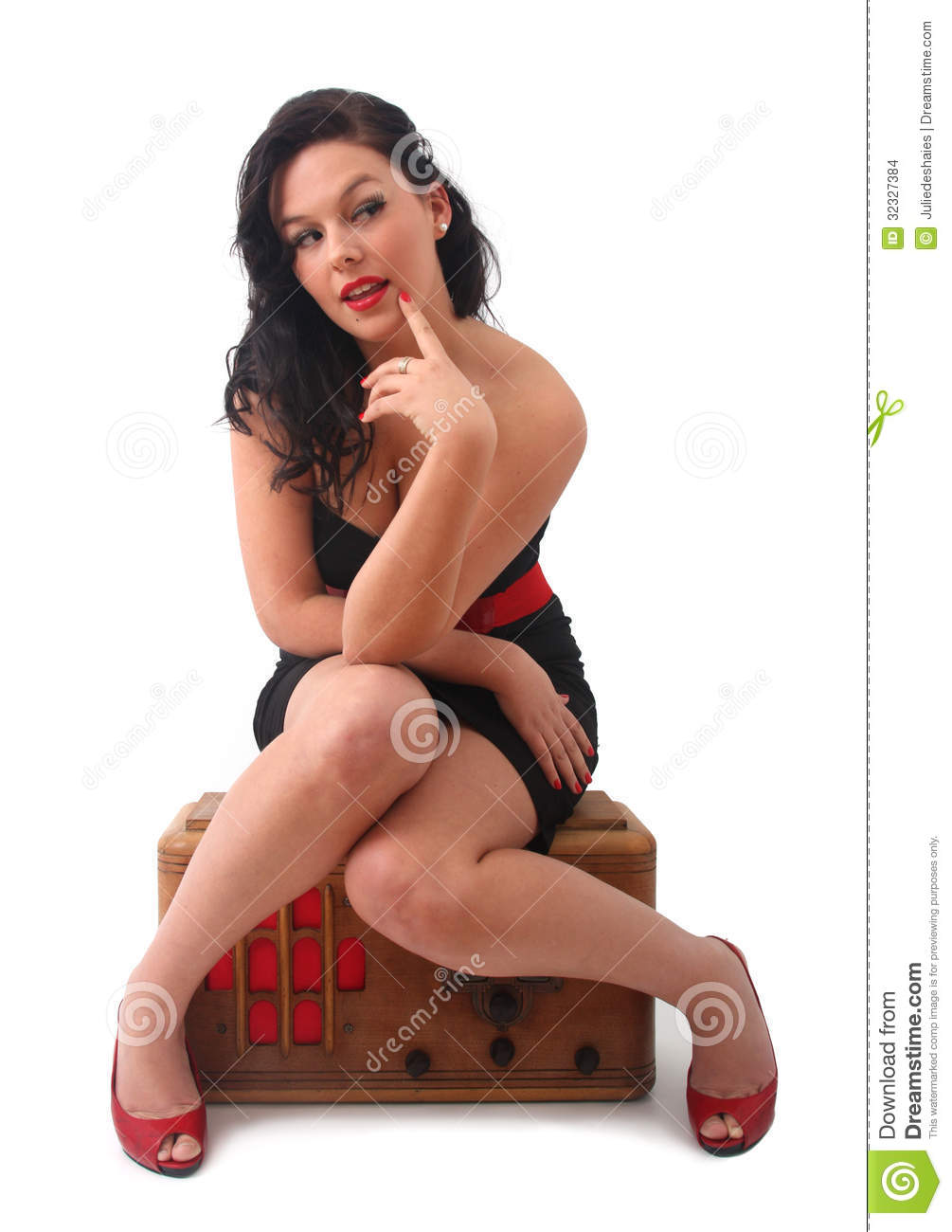Retro Pin Up Girl Stock Images Image 32327384