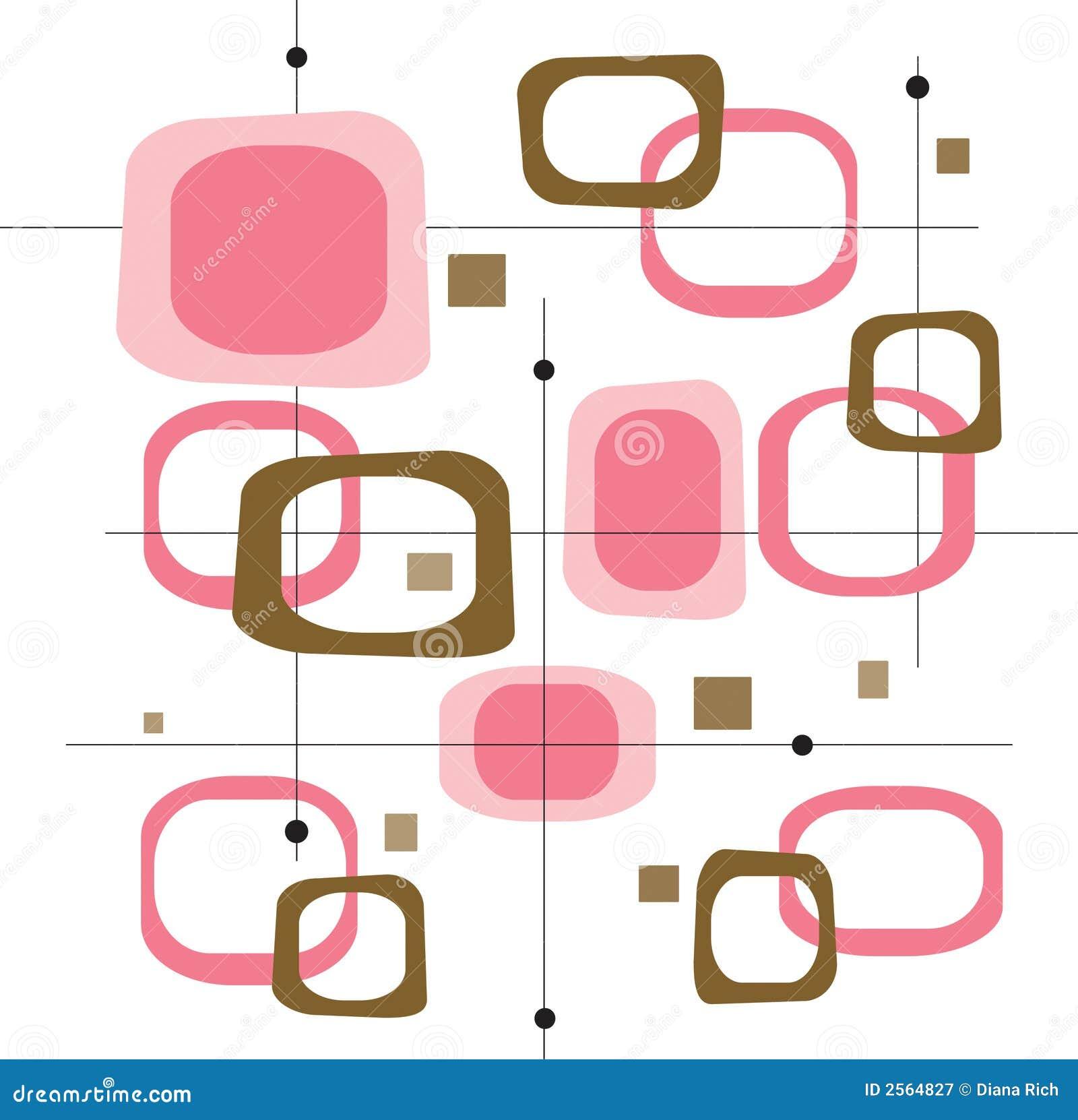Retro Pink Squares (Vector)