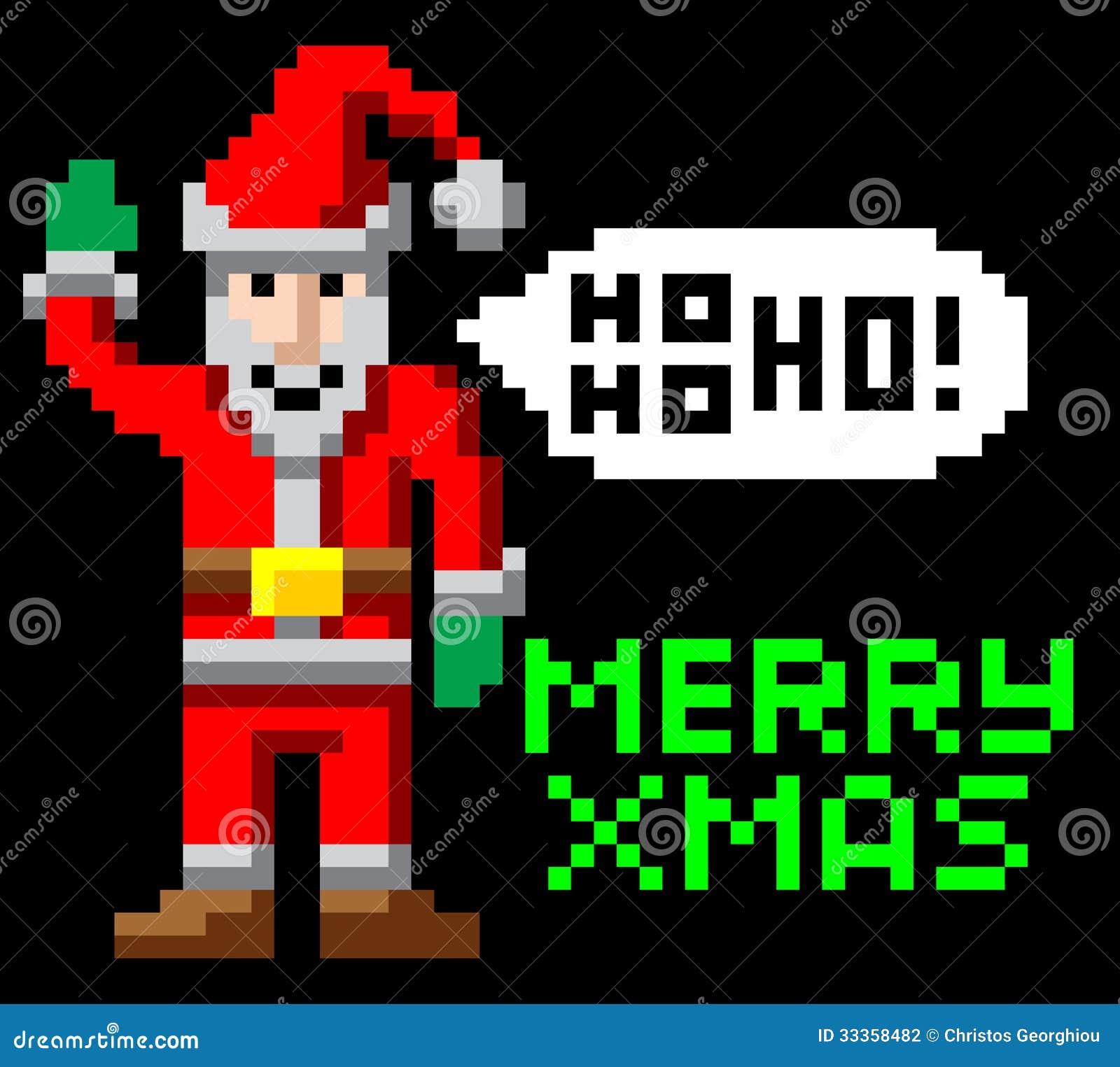 349c1ba64cd1 Retro Pixel Art Christmas Santa Stock Vector - Illustration of icon ...