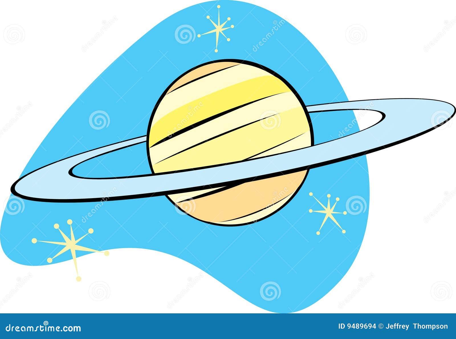 Retro Planeet Saturnus