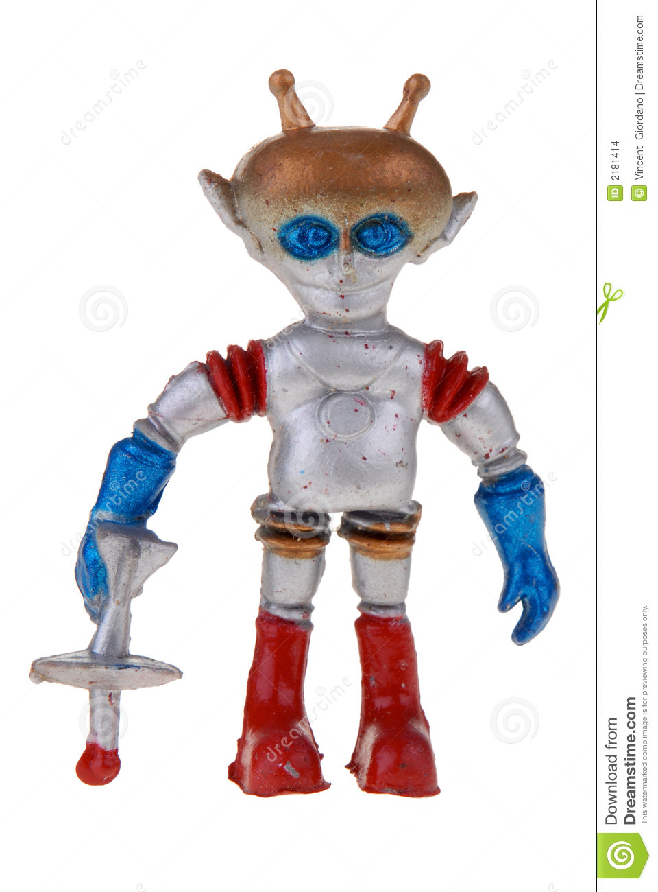 Retro Plastic Spaceman Toy Stock Images Image 2181414