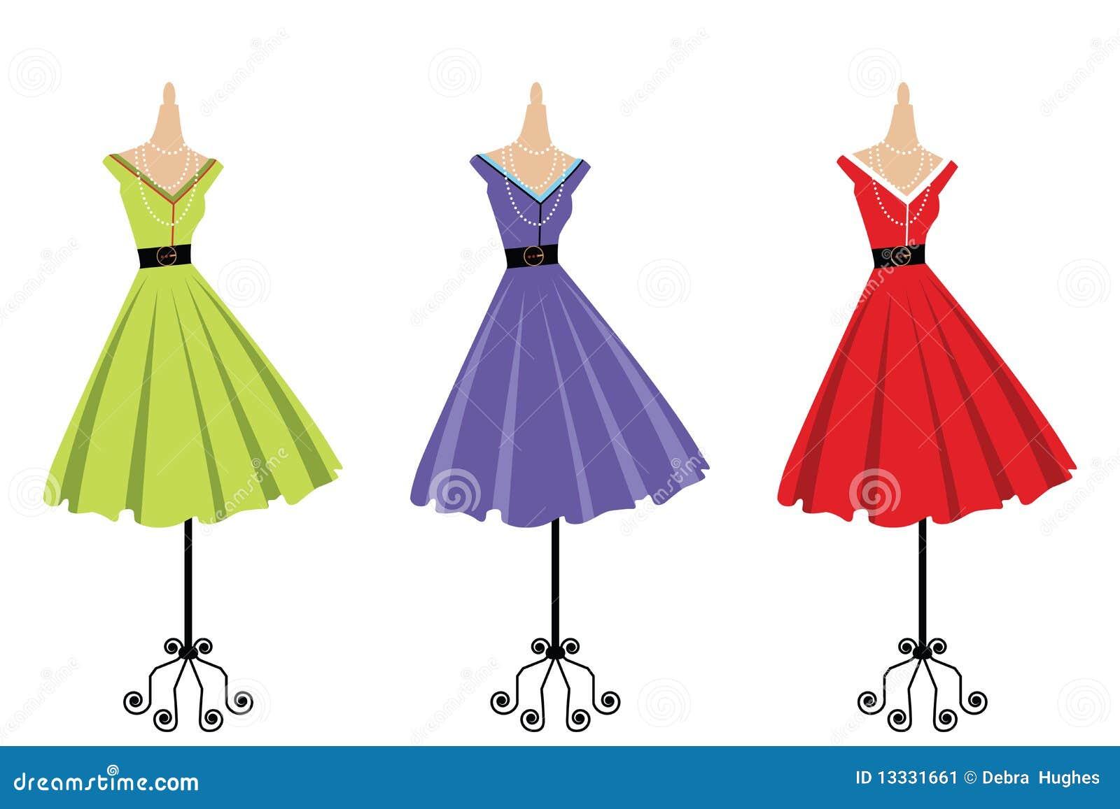 Retro pokaz 3 sukni