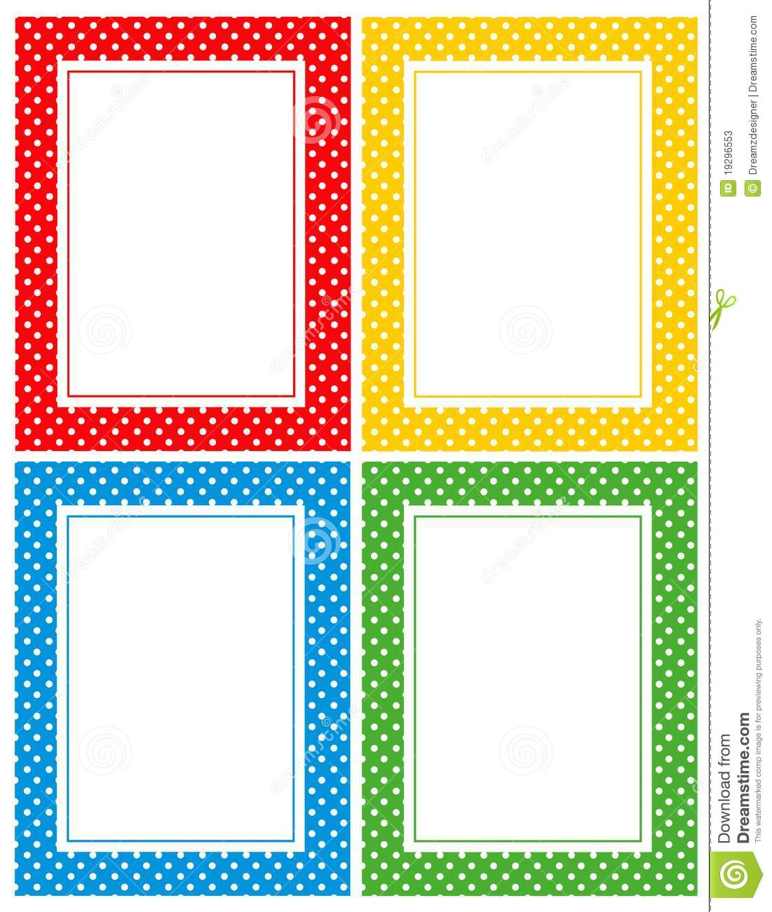 Retro Polka Dots Border Stock Vector Illustration Of