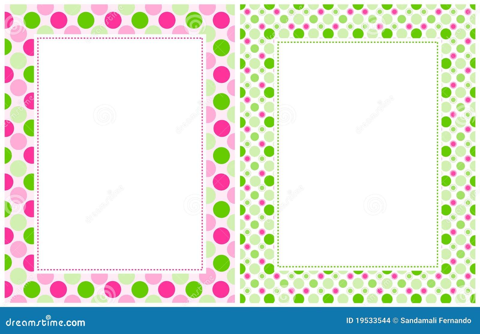 Retro Polka Dots Border Stock Images - Image: 19533544
