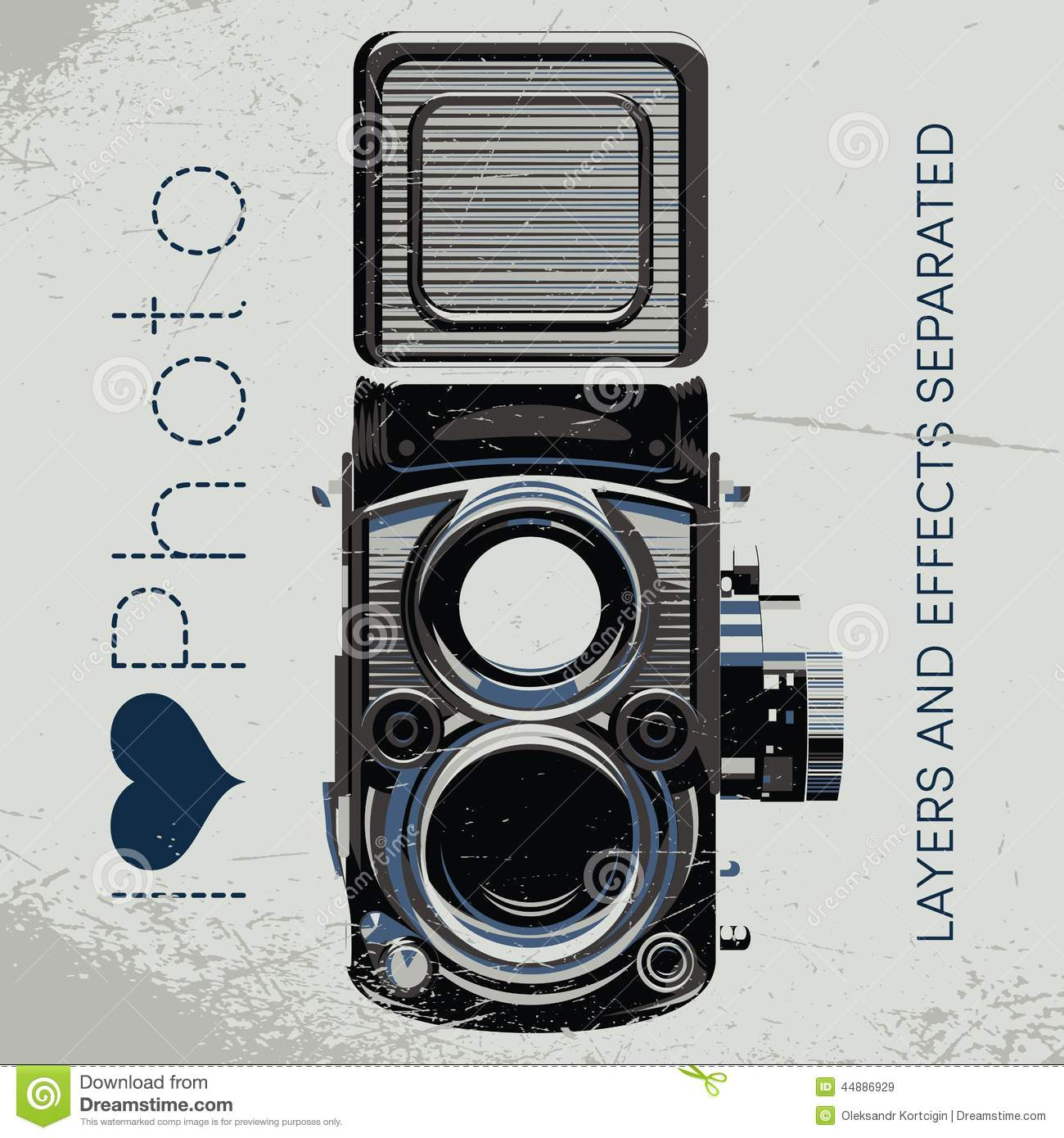 Retro Poster With Colored Vintage Camera Stock Vector ...