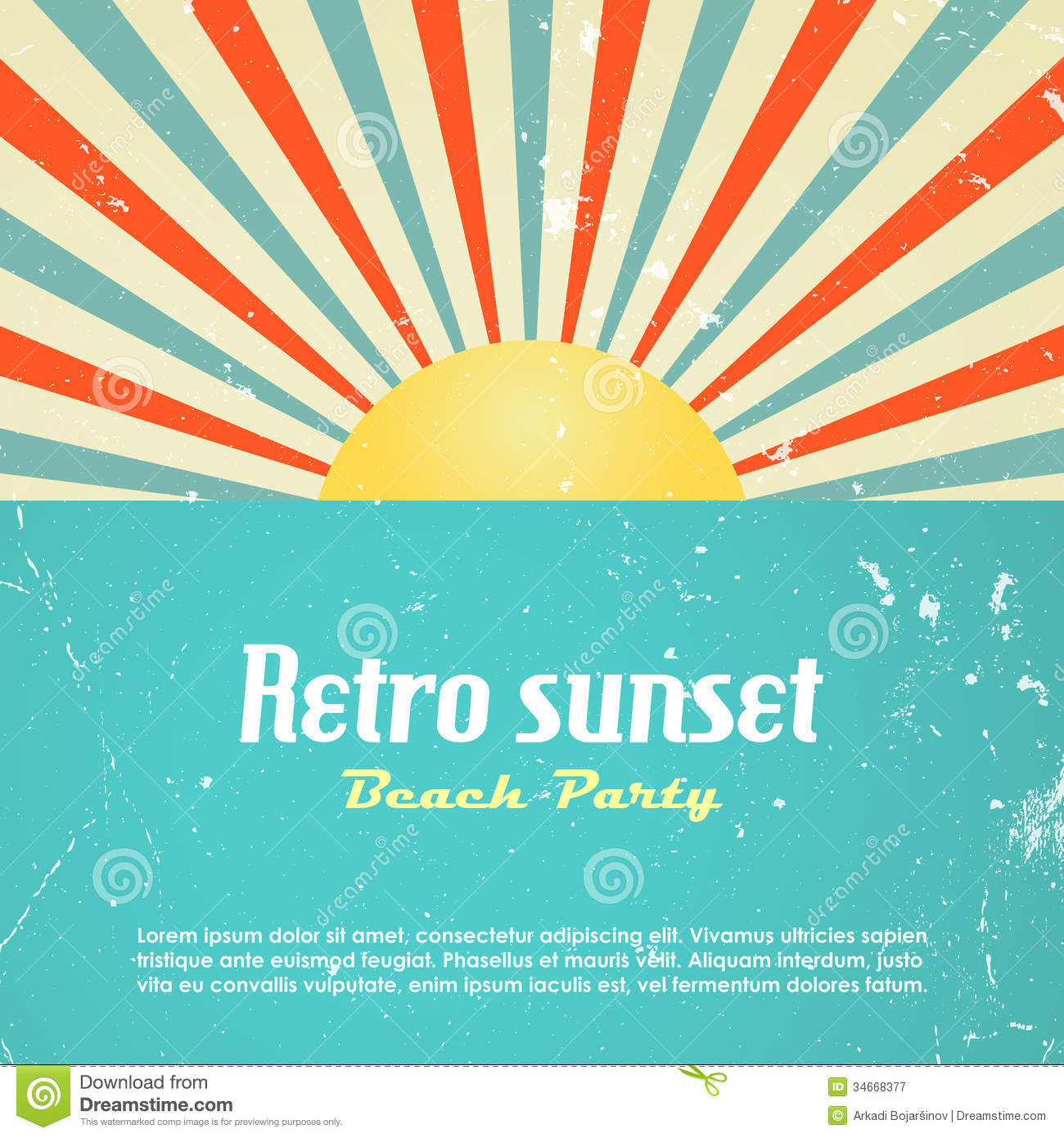 Poster design vector graphics - Retro Poster Design Royalty Free Stock Photography