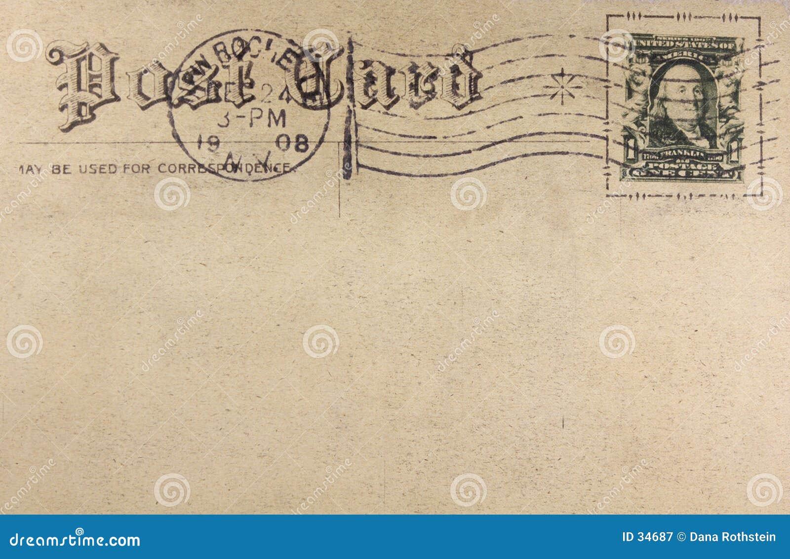 Download Retro- Postkarte stockbild. Bild von postkarte, post, zeichen - 34687