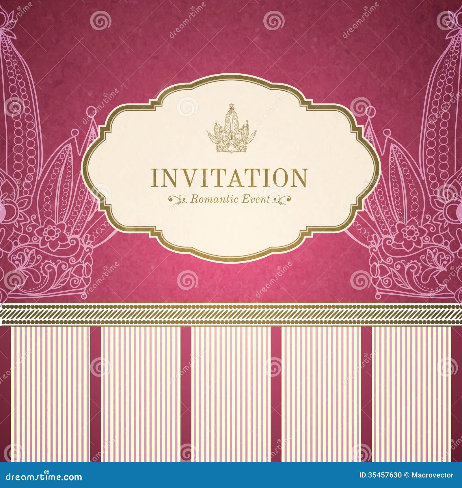 retro princess invitation template stock photo image 35457630 retro princess invitation template