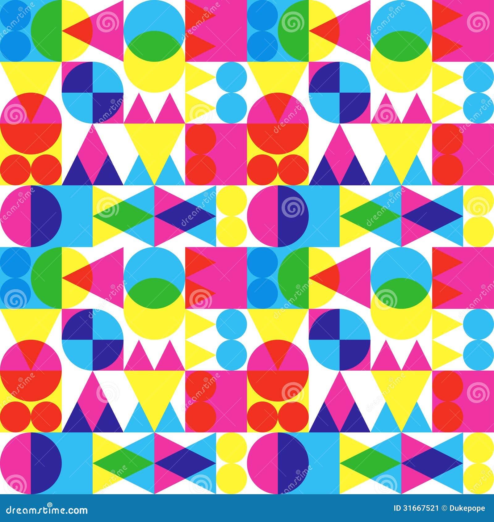 Retro przejrzysty kształta wzór