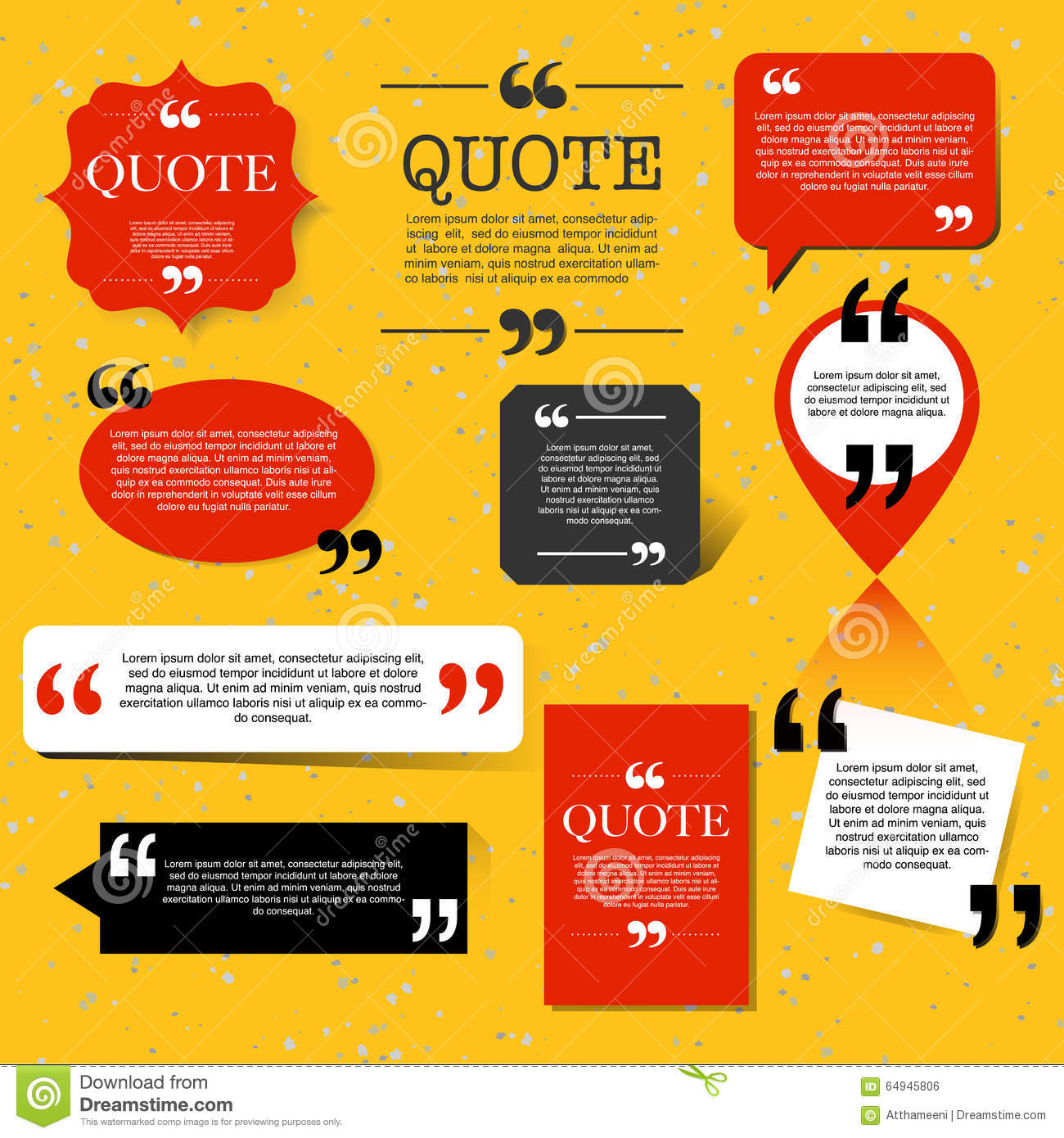 Article quotation marks design