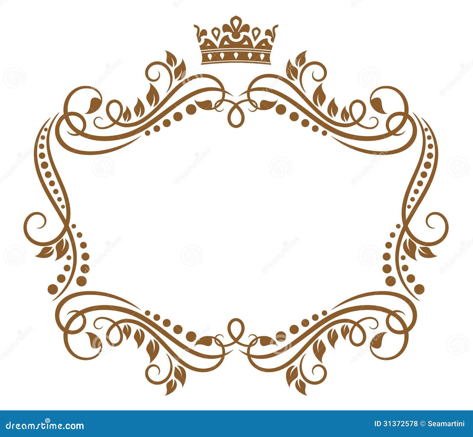 Retro- Rahmen mit königlicher Krone