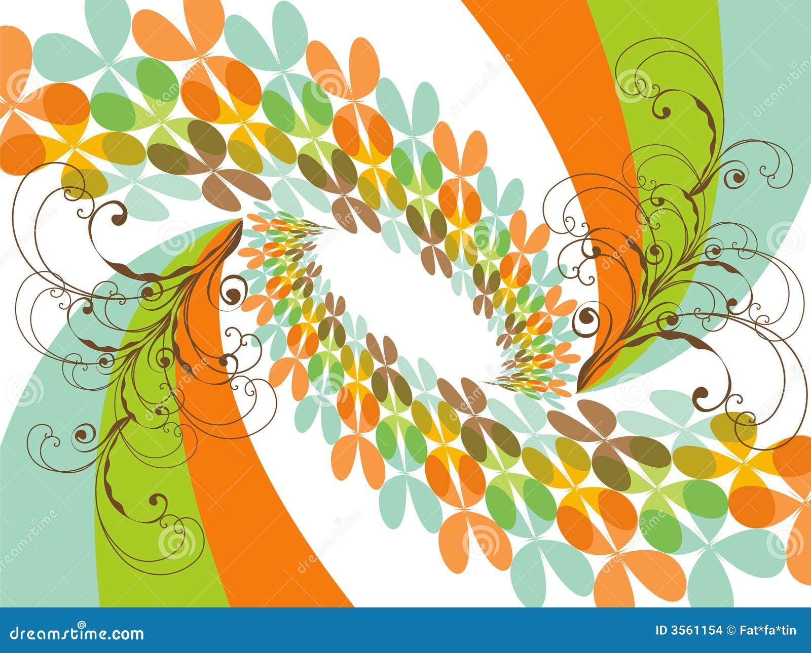 Retro Rainbow del trifoglio della farfalla