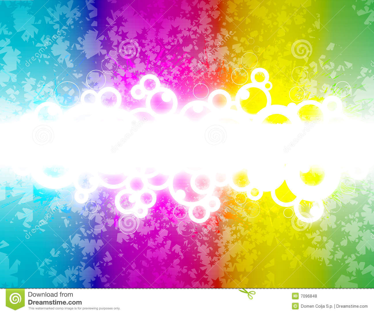Retro Rainbow Design W... Light Colourful Backgrounds