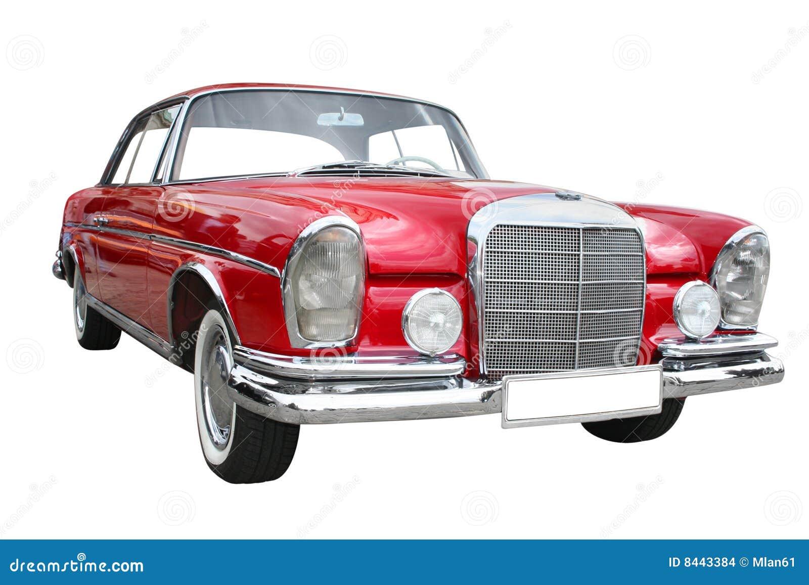 Retro red limousine