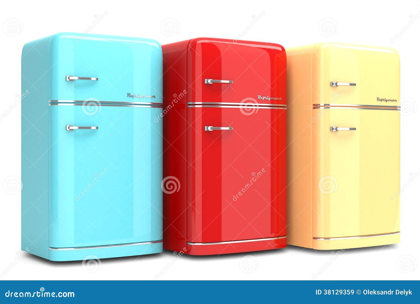 retro refrigerators royalty free stock images image
